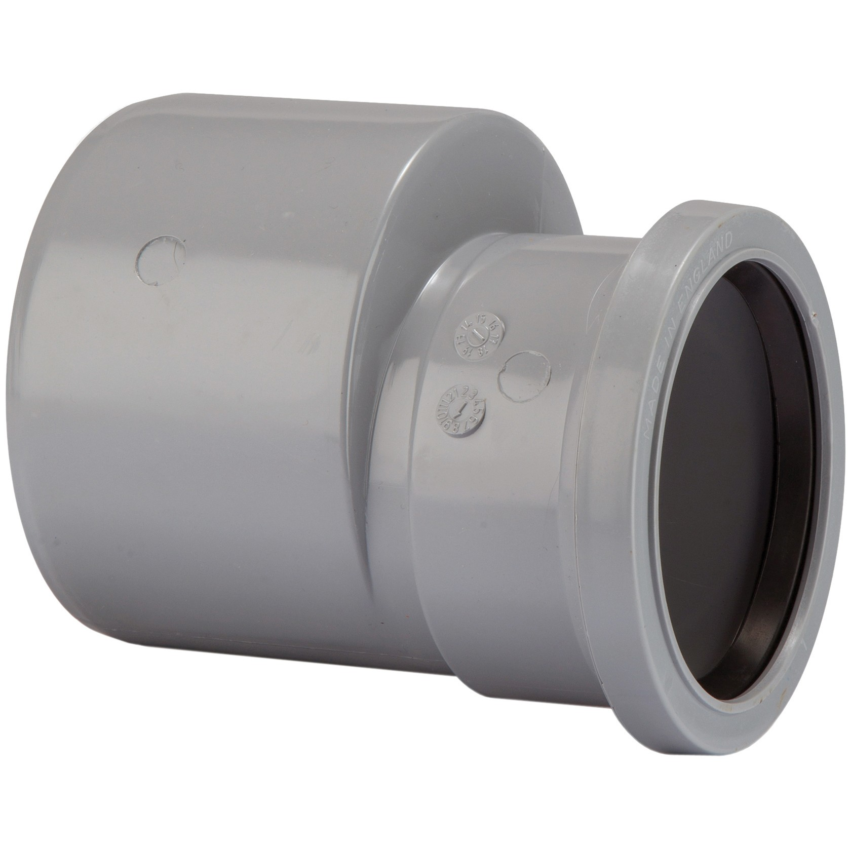 Sd34g polypipe 110mm to 82mm soil reducer grey for 82mm soil pipe