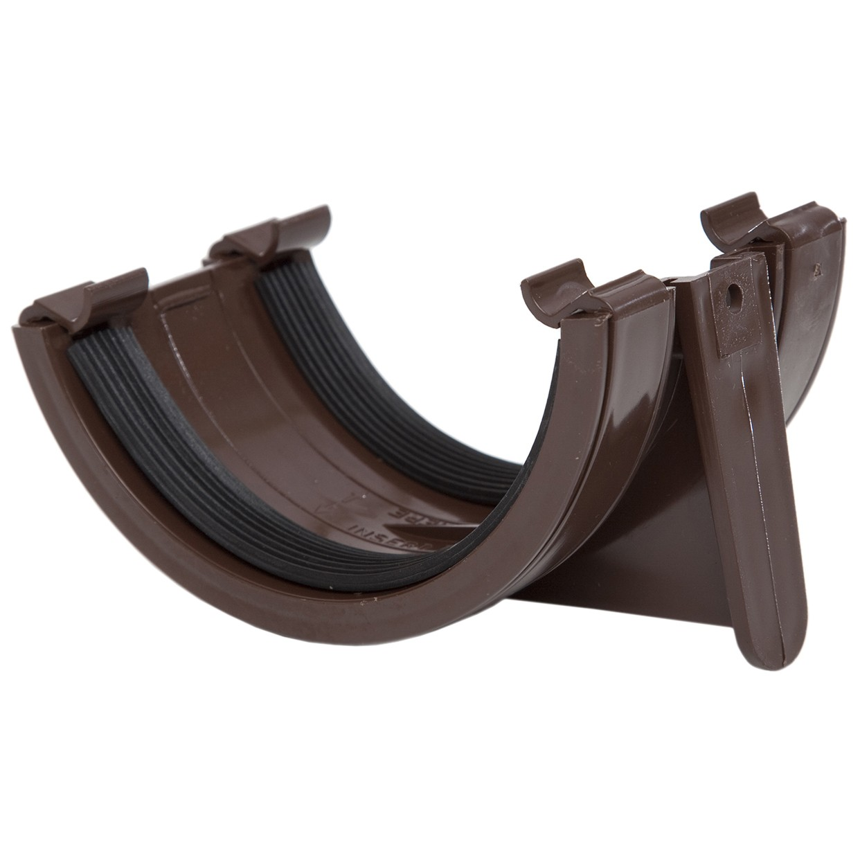 Rr102br Polypipe 112mm Half Round Gutter Union Bracket Brown