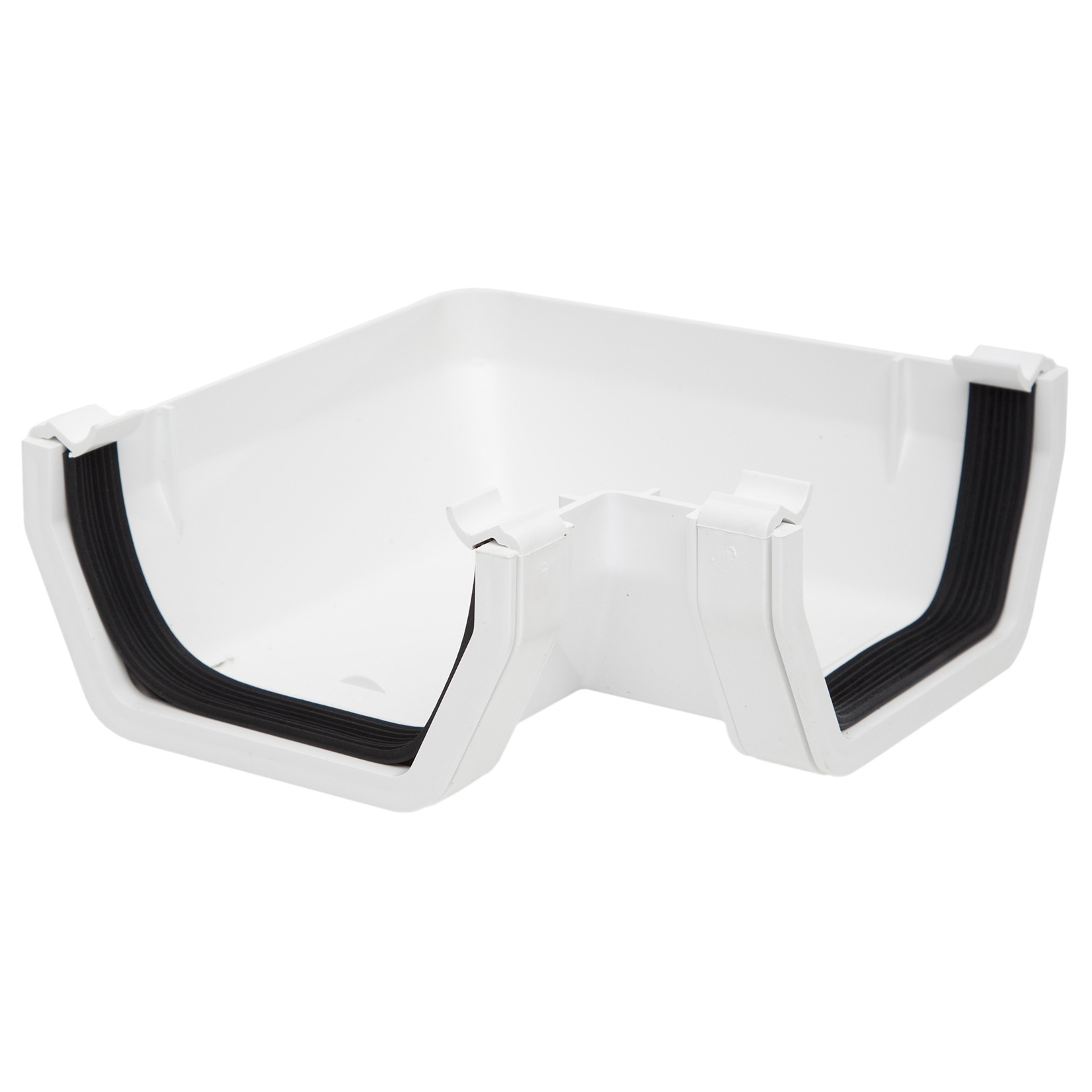 Rs203w Polypipe 112mm Square Gutter 90 Degree Angle White