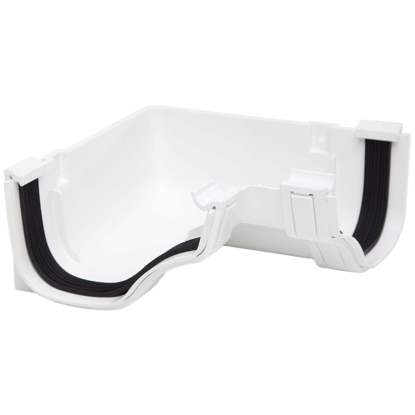 Rog13w Polypipe 130mm Ogee Extra Capacity Gutter 90 Degree