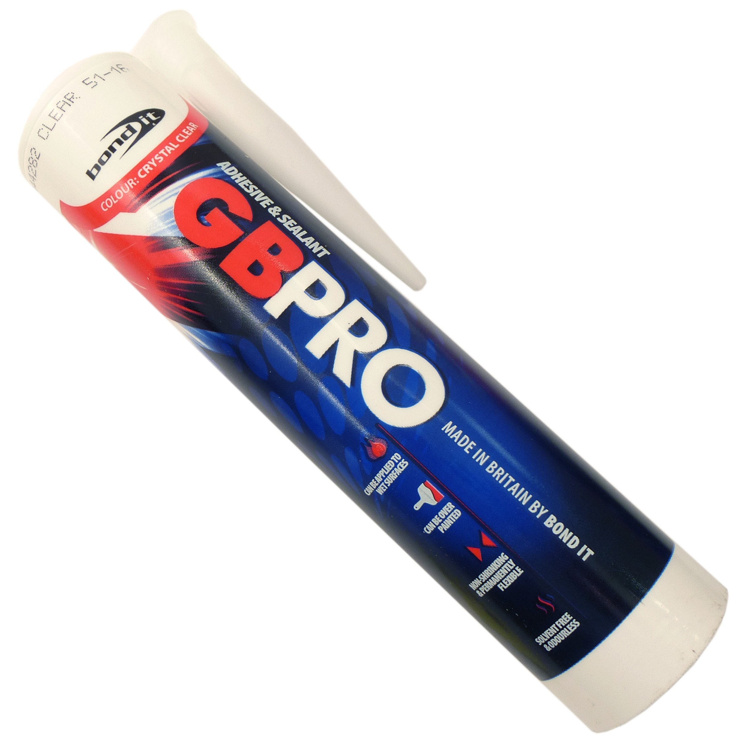 Bond It G B Pro Hybrid Polymer Silicone - Clear, 290ml