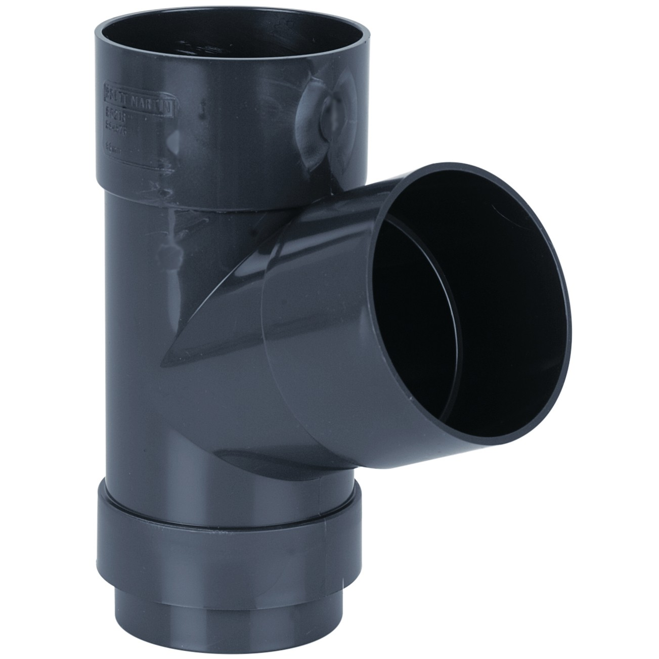 Brett Martin 68mm Round Anthracite Down Pipe 112.5 Degree Branch - Anthracite Grey