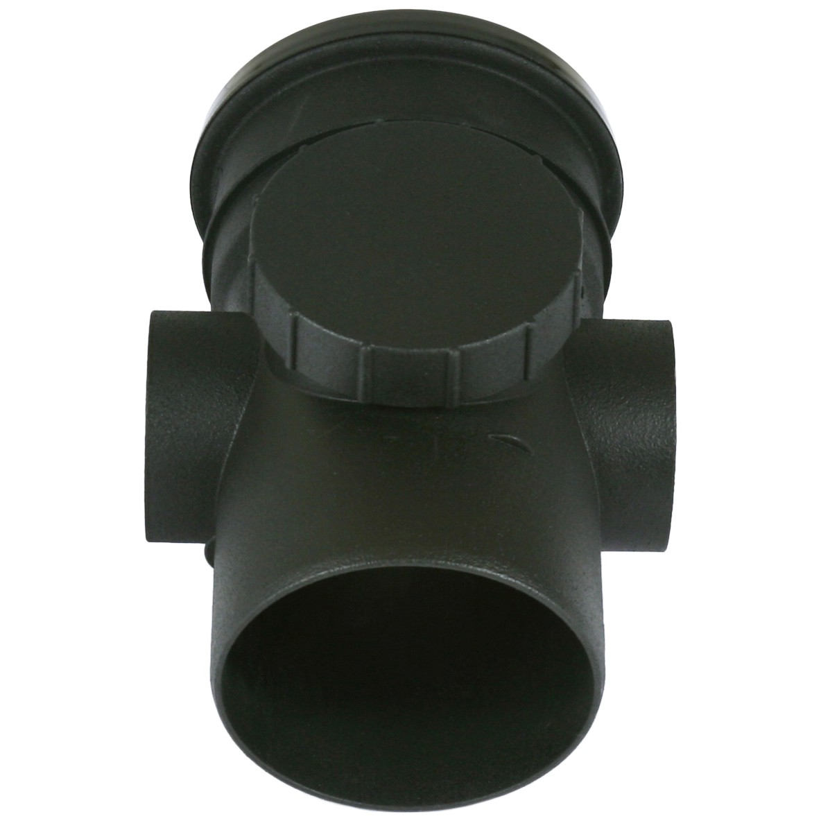 Cascade 110mm Cast Iron Style Soil Access Pipe - Black