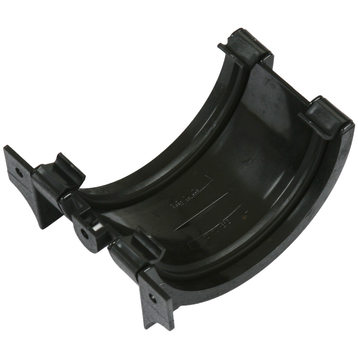 Cascade 112mm Half Round Cast Iron Style Gutter Union - Black