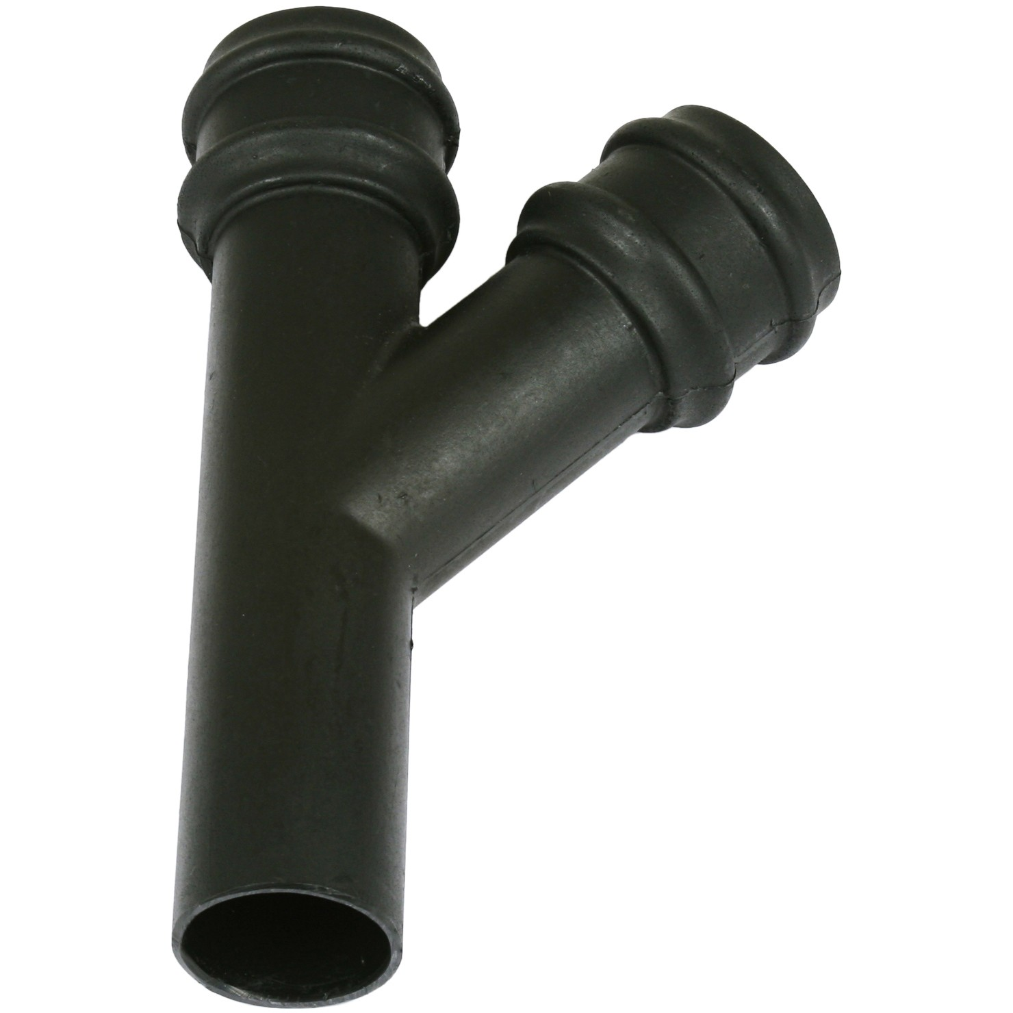 Cascade 68mm Round Cast Iron Style 135 Degree Down Pipe Branch - Black