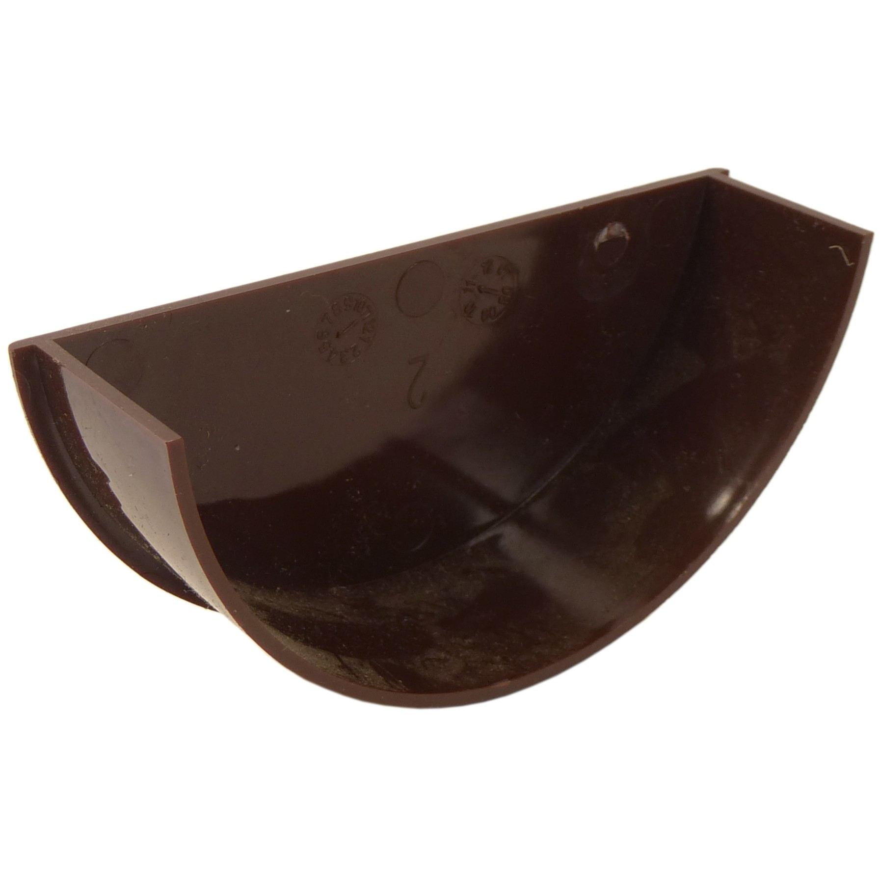 Freeflow 112mm Half Round Gutter Internal Stop End - Brown