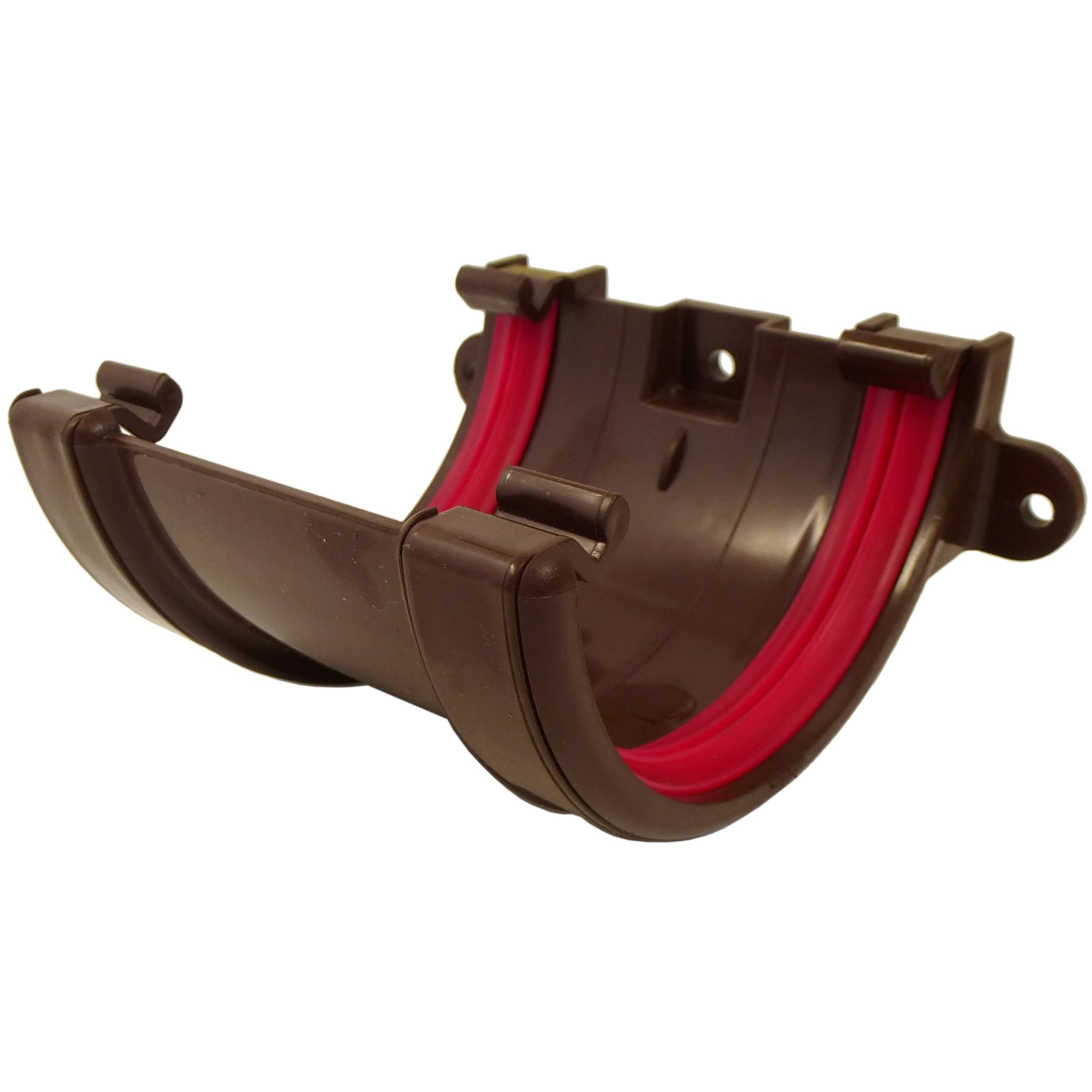 Freeflow 112mm Half Round Gutter Union Bracket - Brown