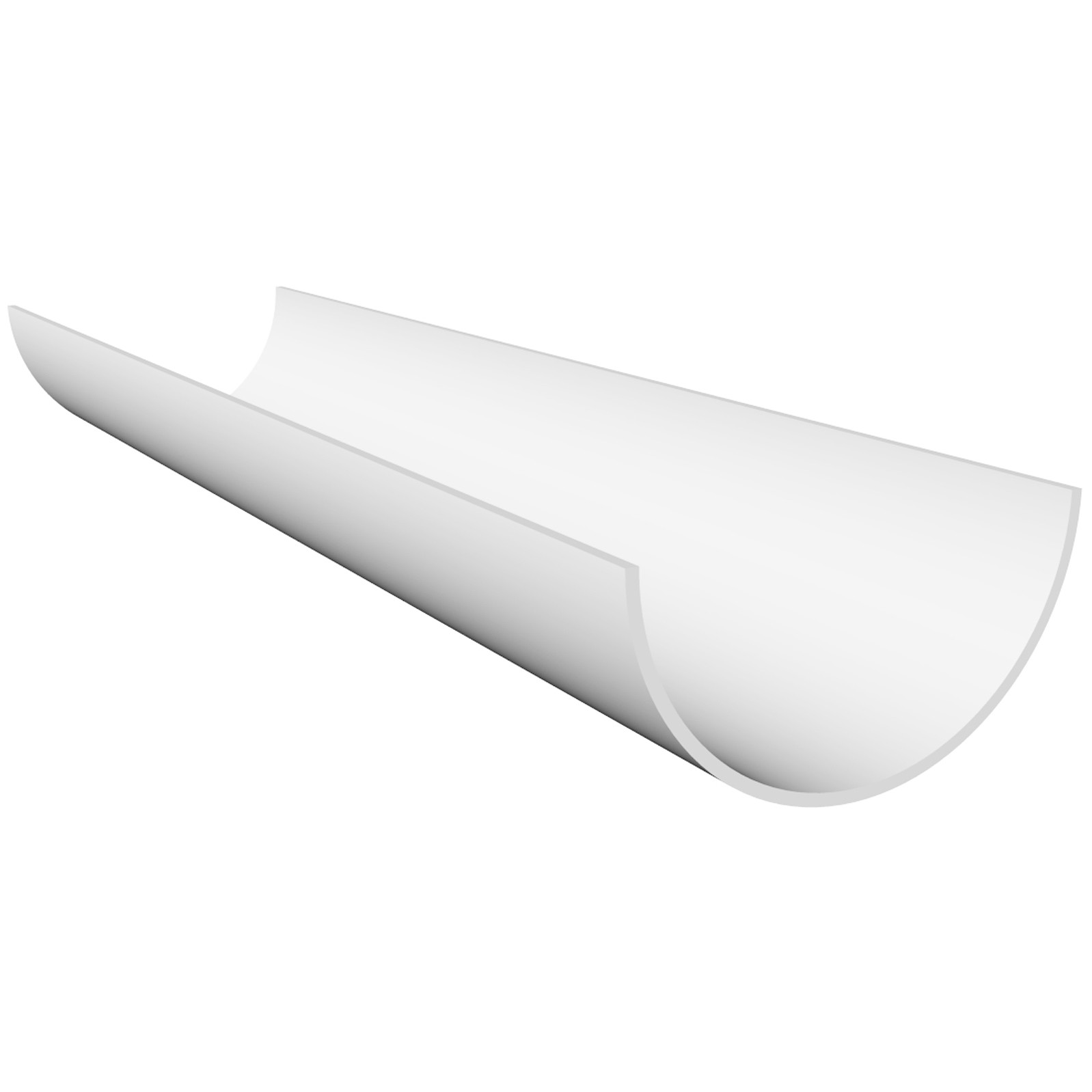 Freeflow 112mm Half Round Gutter - White, 2 metre