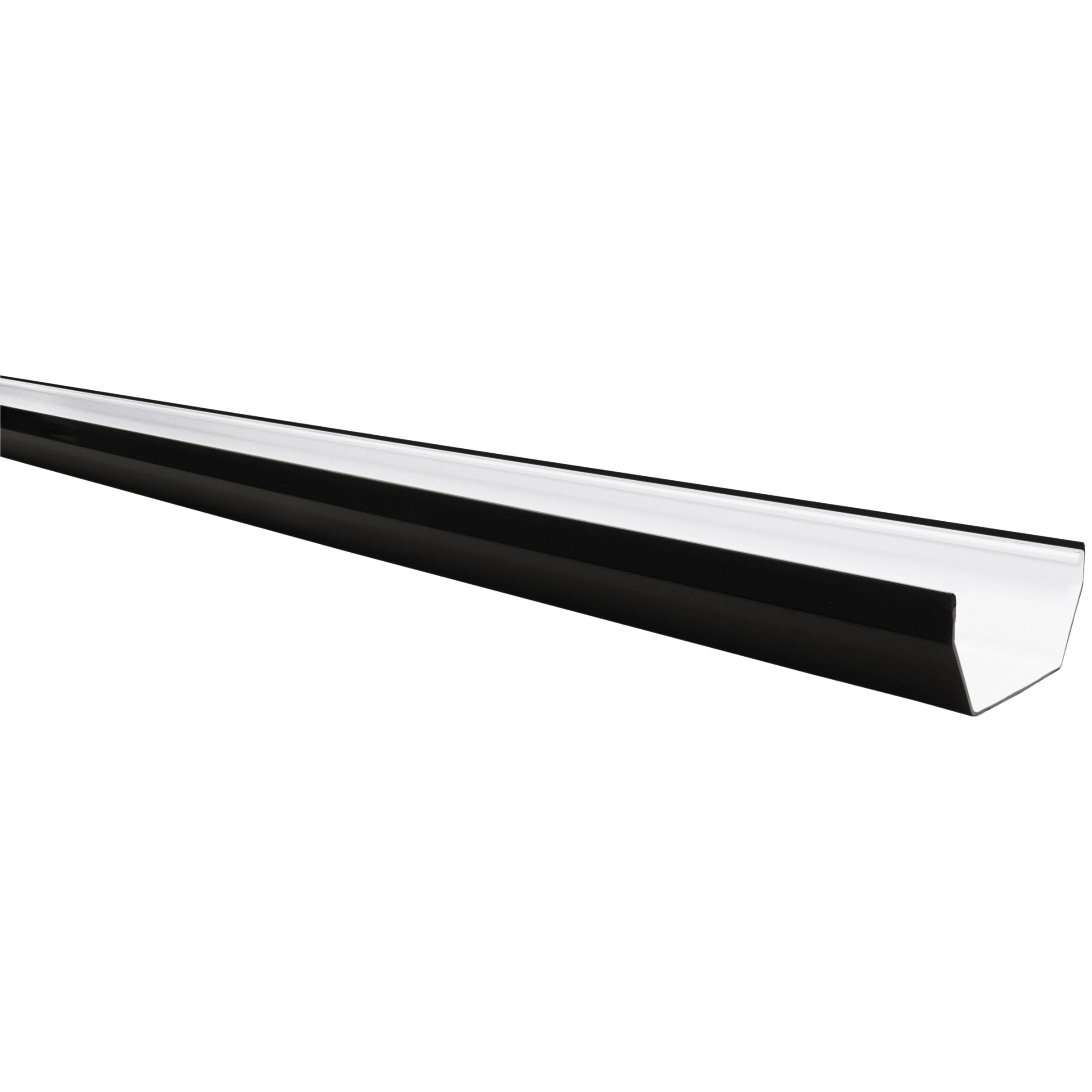 Freeflow 114mm Square Gutter - Black, 2 metre
