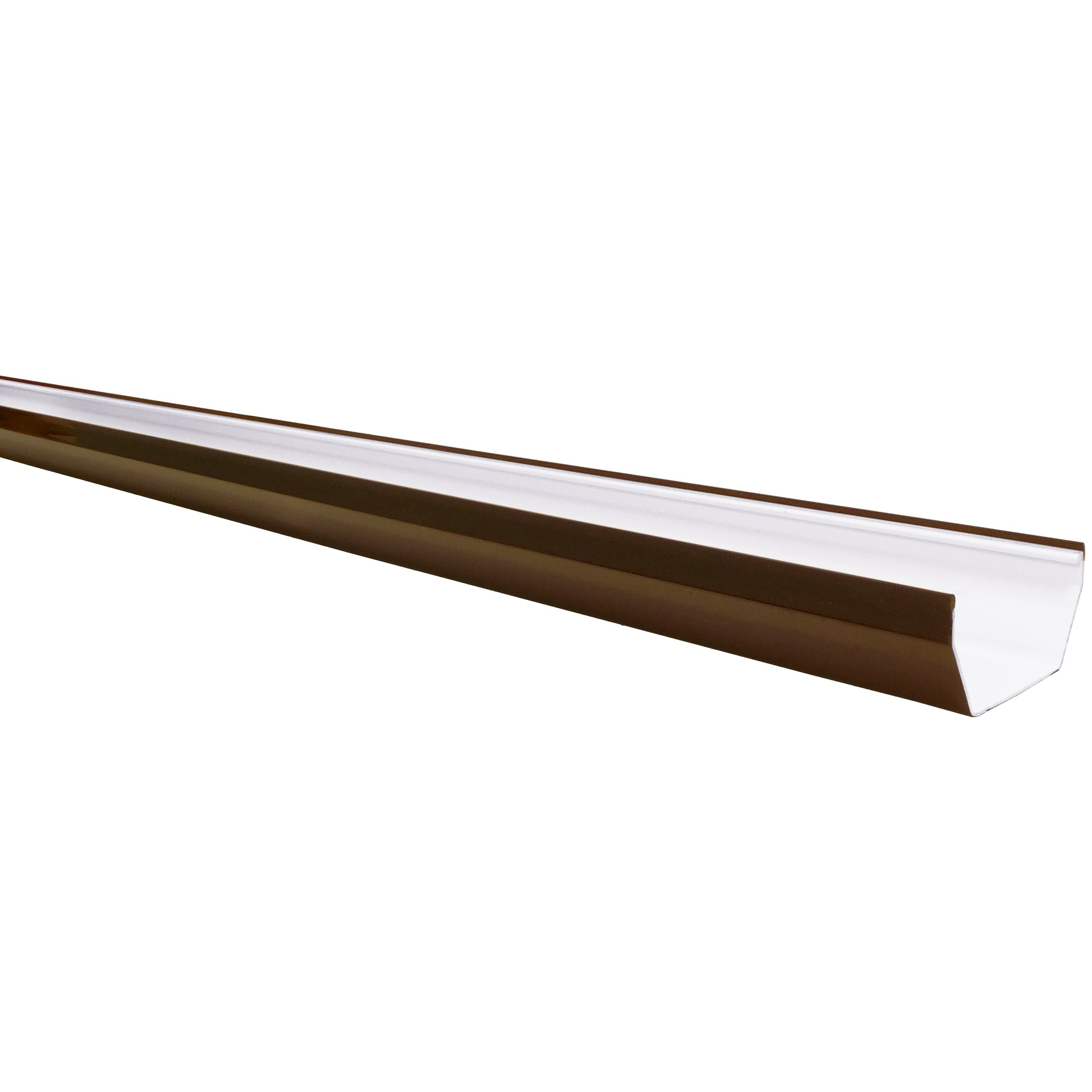 Freeflow 114mm Square Gutter - Brown, 4 metre