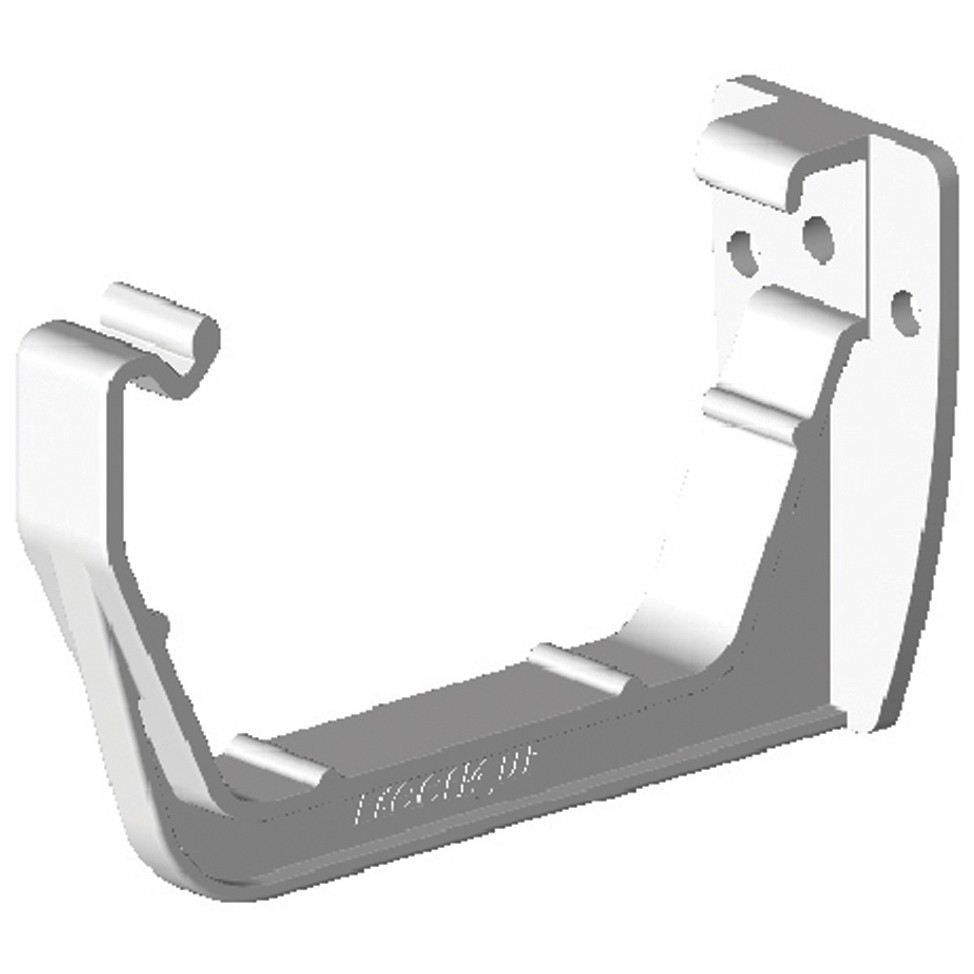 Freeflow 114mm Square Gutter Fascia Bracket - White
