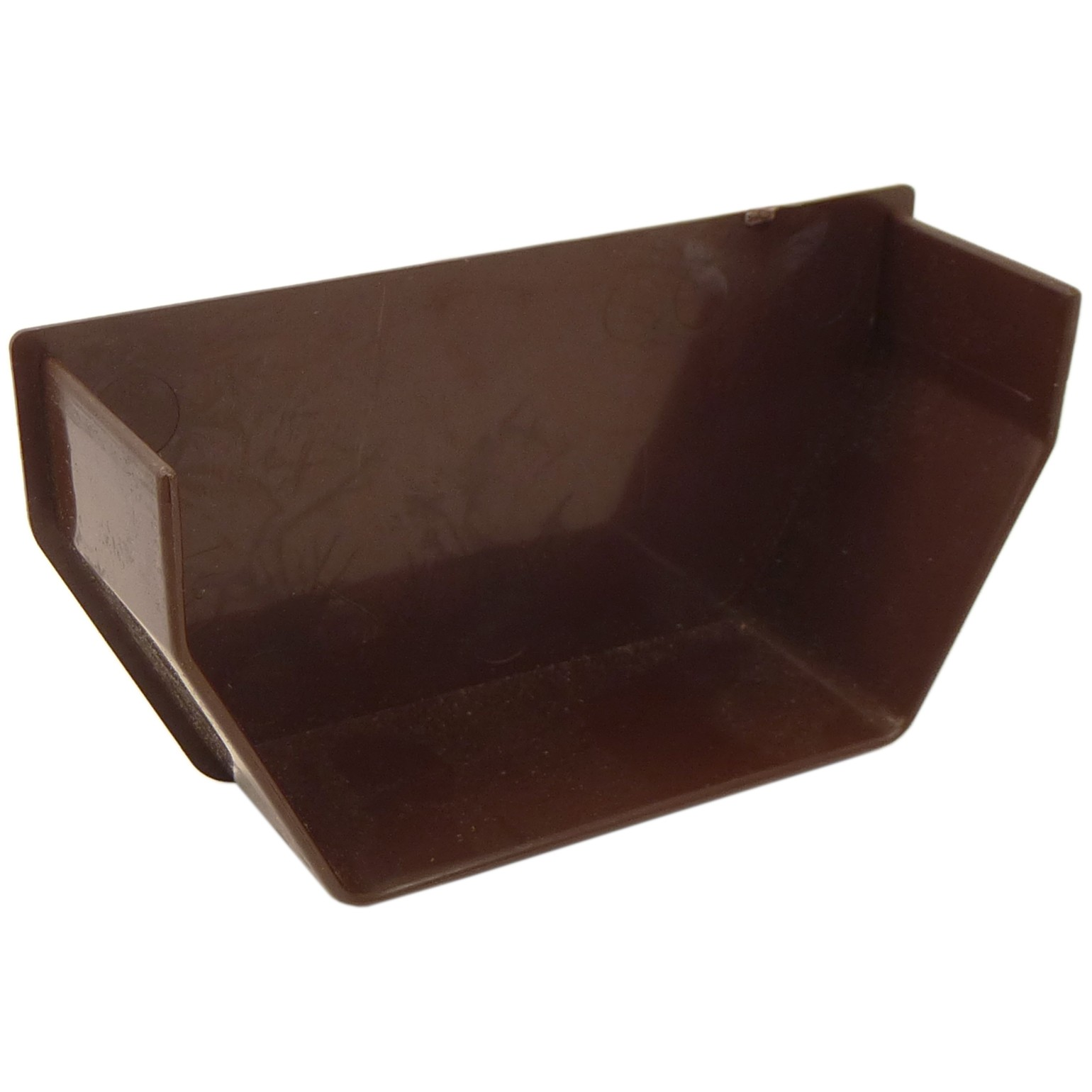 Freeflow 114mm Square Gutter Internal Stop End - Brown