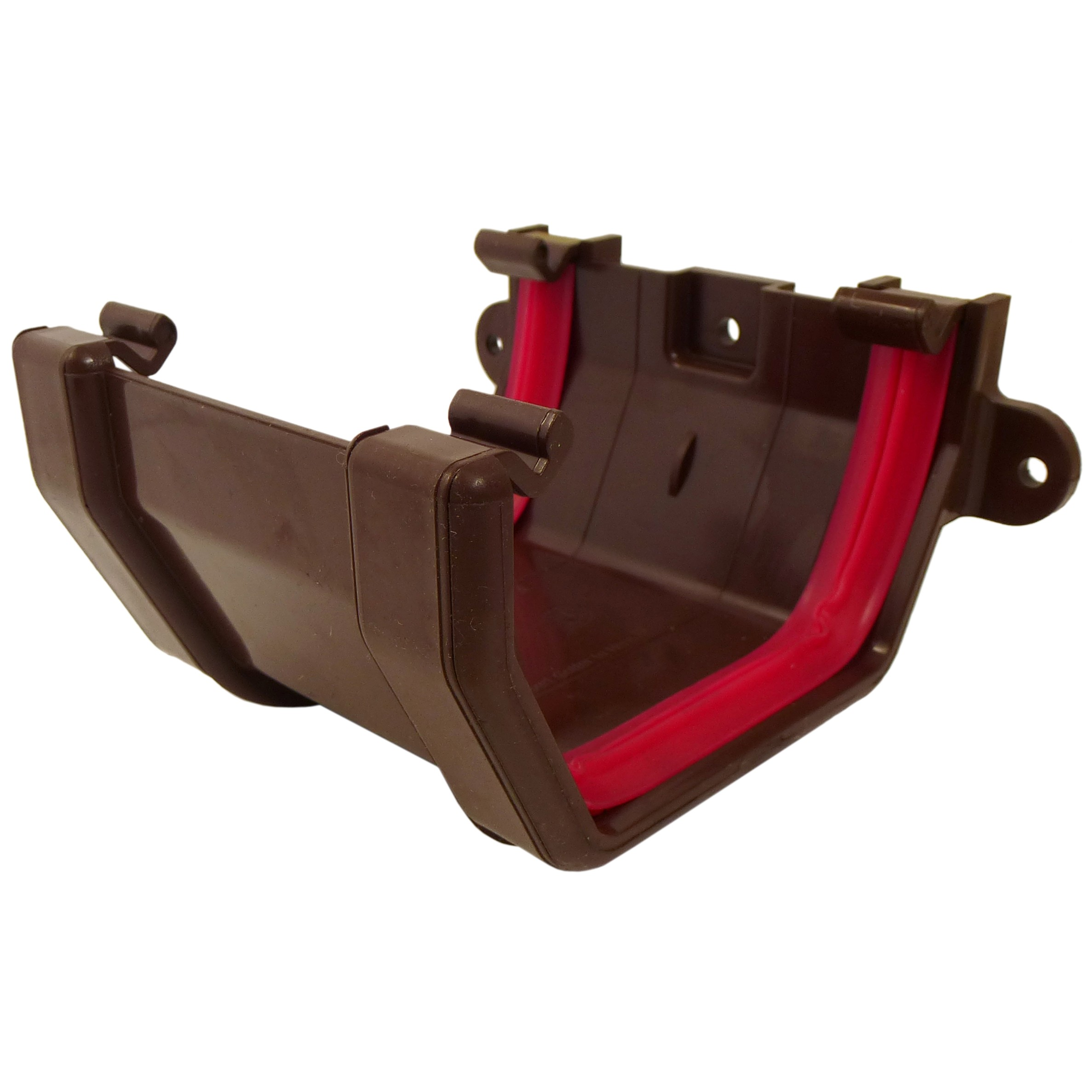Freeflow 114mm Square Gutter Union Bracket - Brown