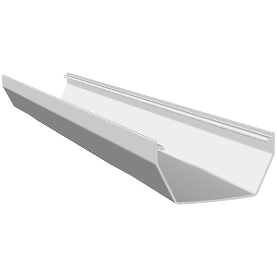 Freeflow 114mm Square Gutter - White, 4 metre