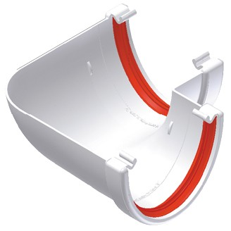 Freeflow 116mm Deep Gutter 90 Degree Angle - White
