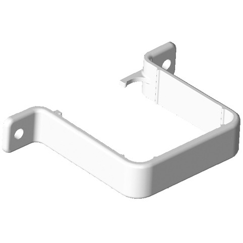 Freeflow 65mm Square Down Pipe Clip (Flush) - White