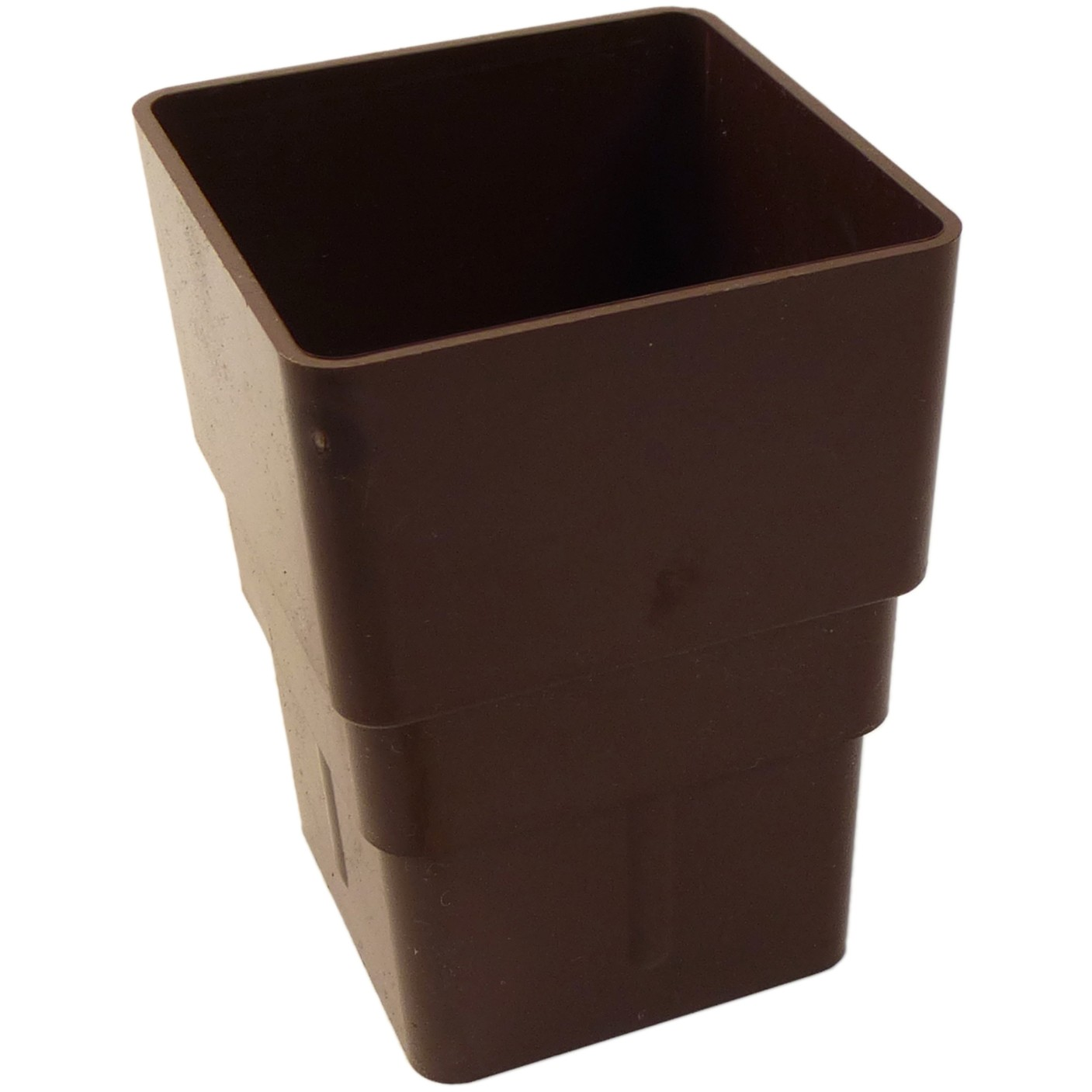 Freeflow 65mm Square Down Pipe Connector - Brown