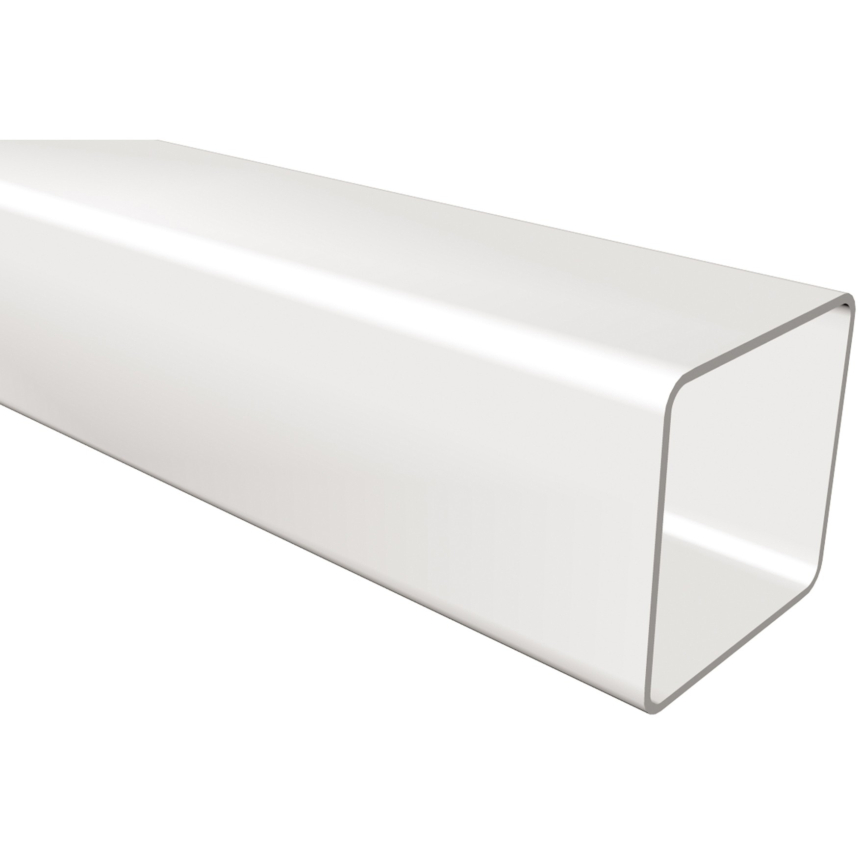 Freeflow 65mm Square Down Pipe - White, 2.75 metre