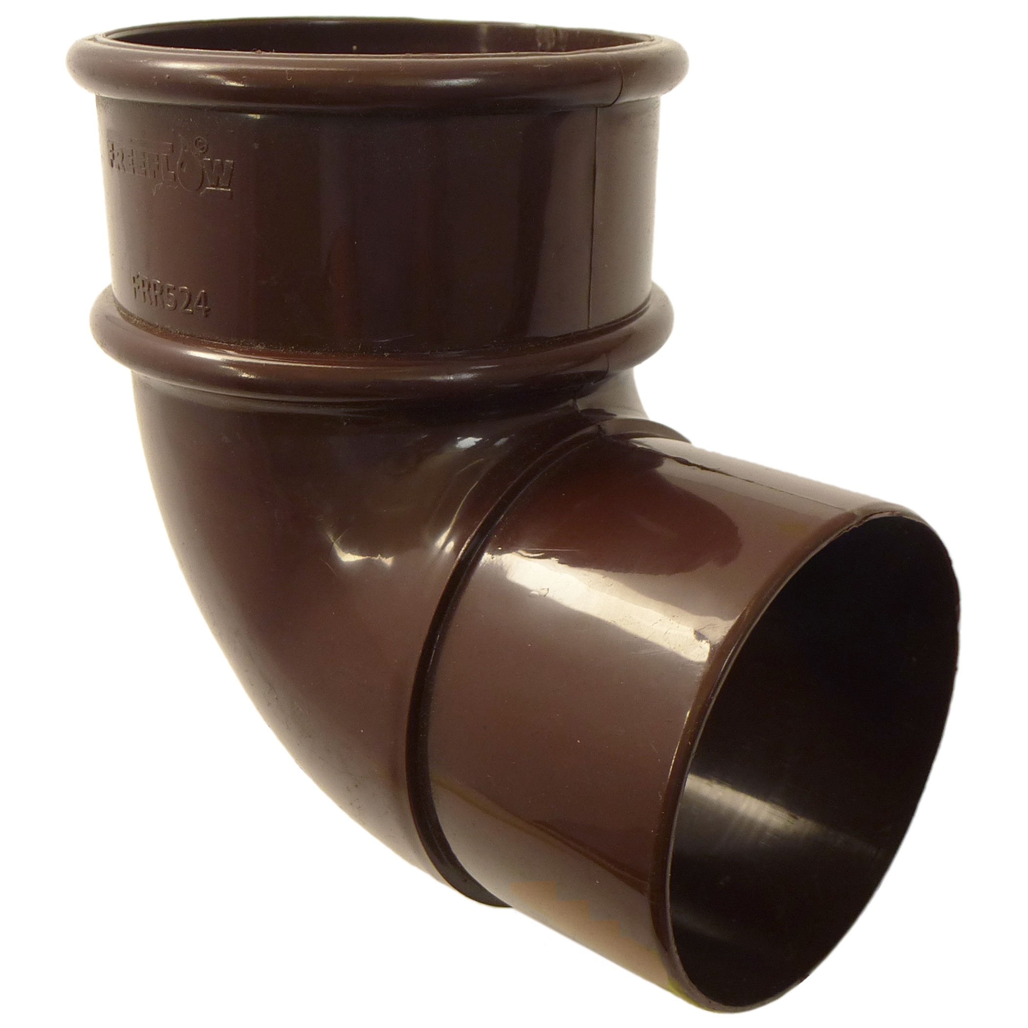 Freeflow 68mm Round Down Pipe 90 Degree Offset Bend - Brown