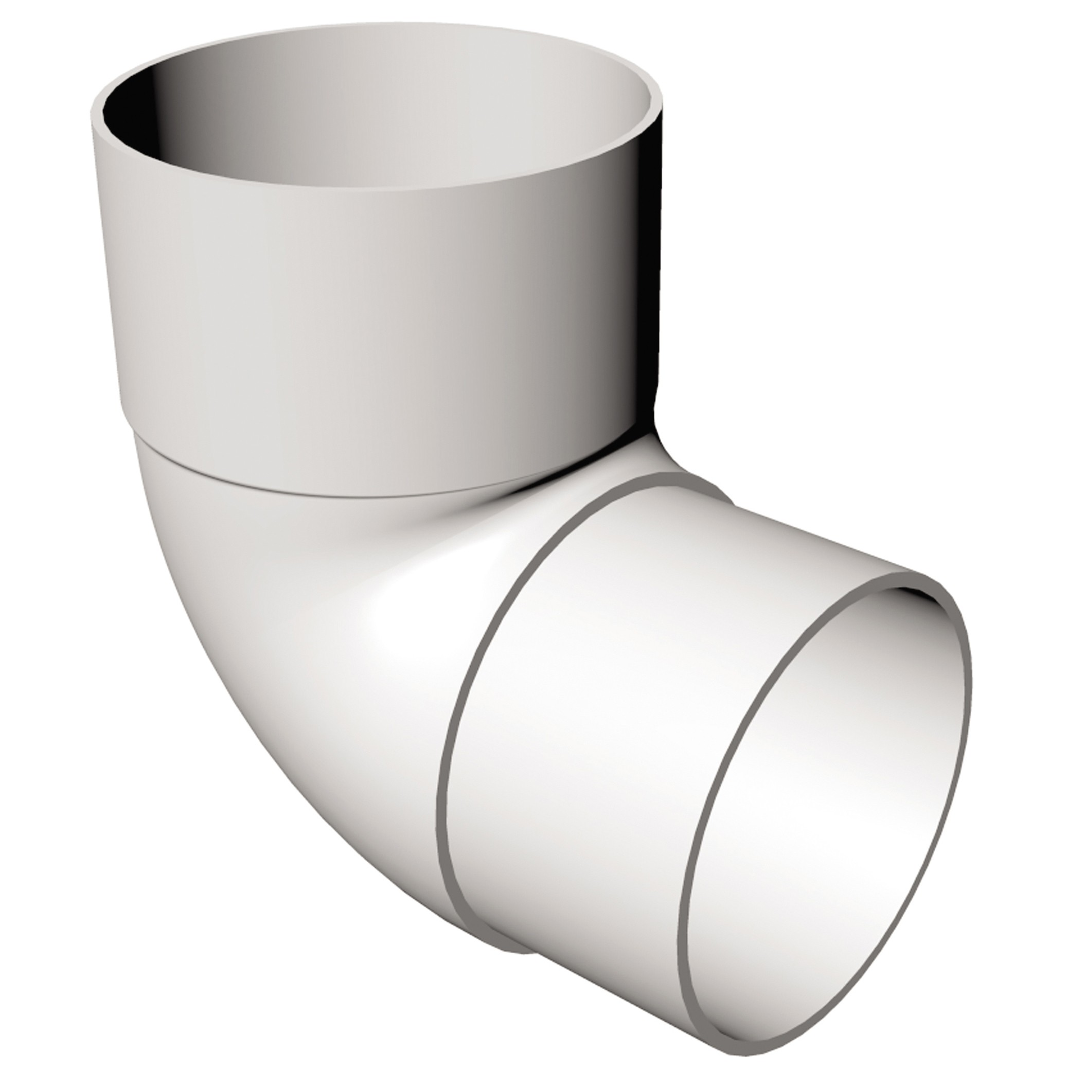 Freeflow 68mm Round Down Pipe 90 Degree Offset Bend - White