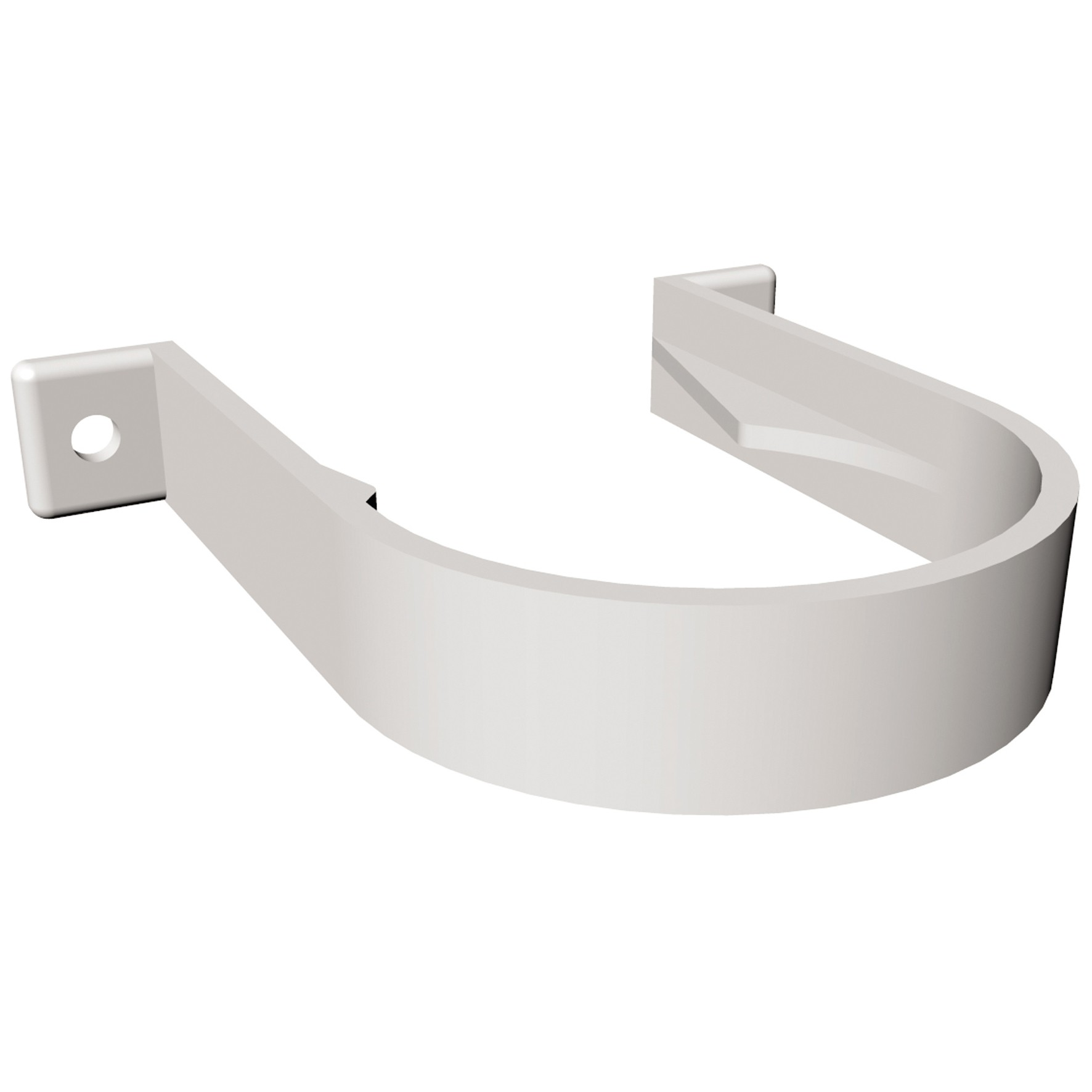 Freeflow 68mm Round Down Pipe Clip (Standard) - White