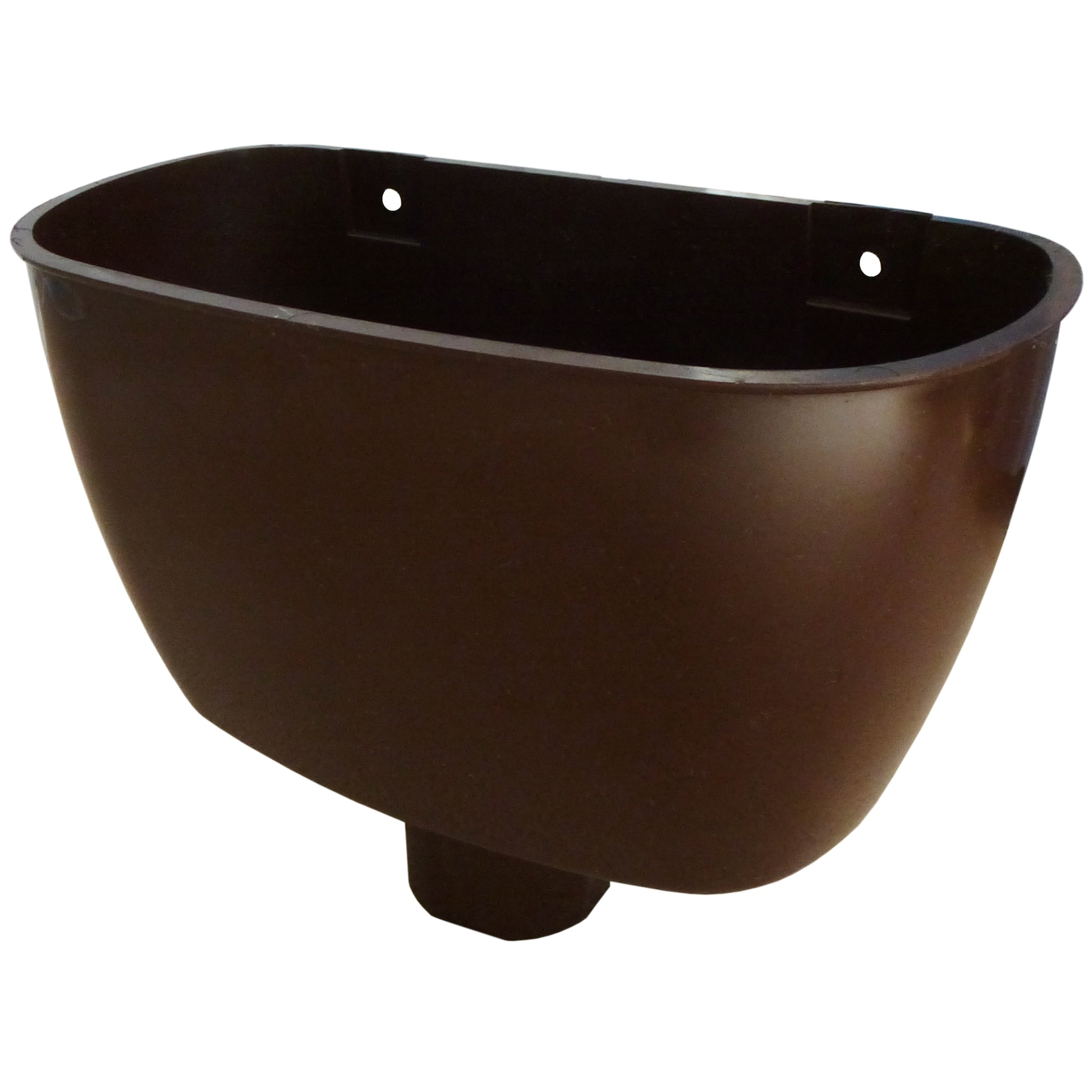 Freeflow 68mm Round Down Pipe Hopper Head - Brown