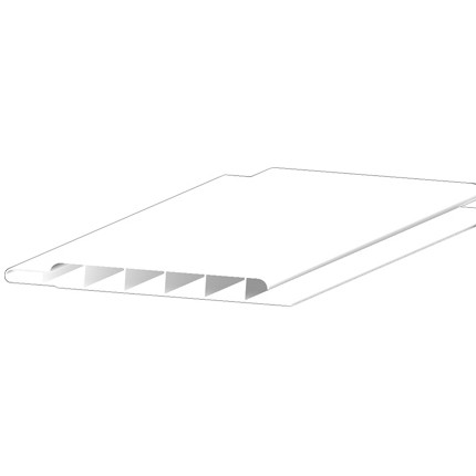 Freefoam 10mm Hollow Soffit Board - White, 100mm, 5 metre
