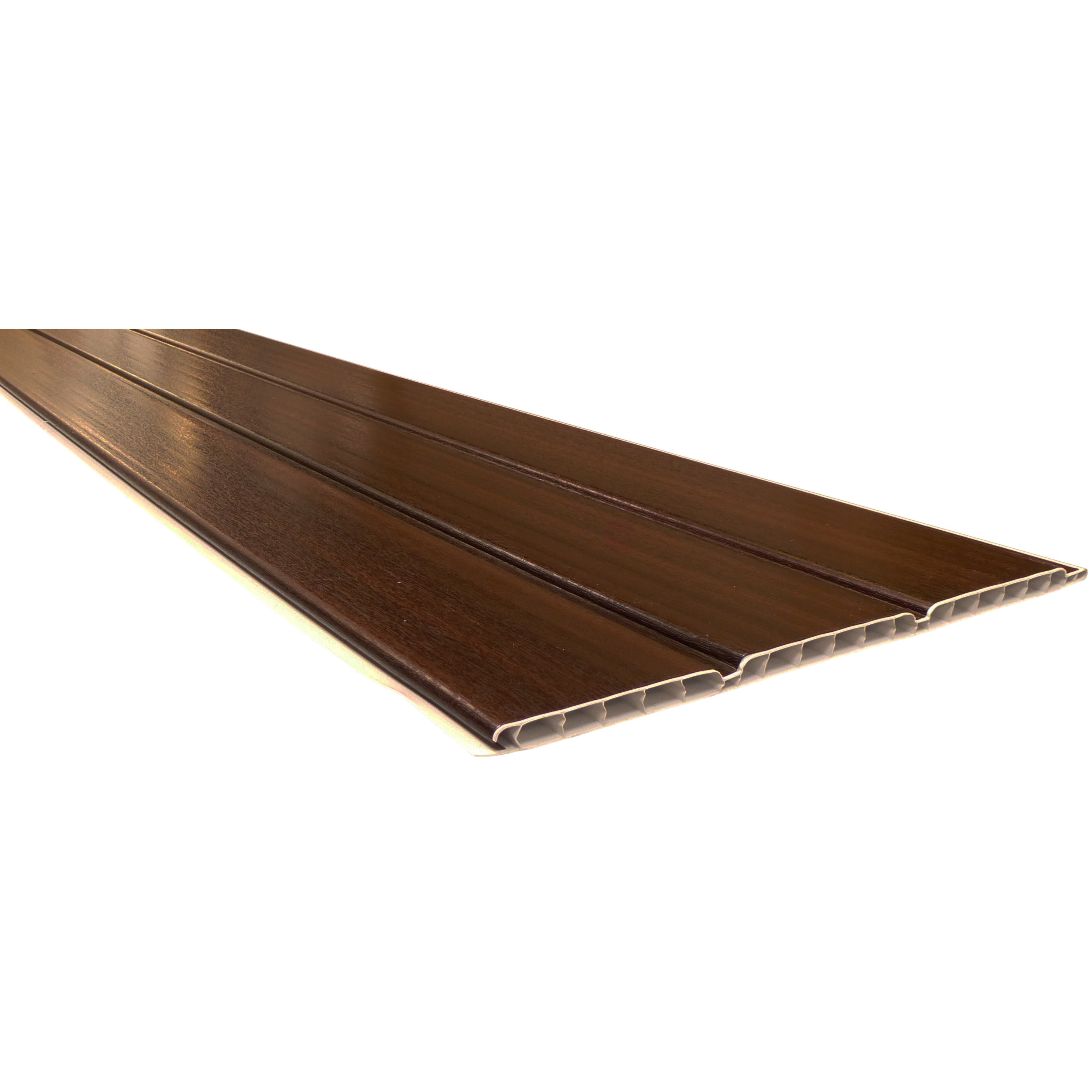 Freefoam 10mm Hollow Soffit Board - Woodgrain Mahogany, 300mm, 5 metre