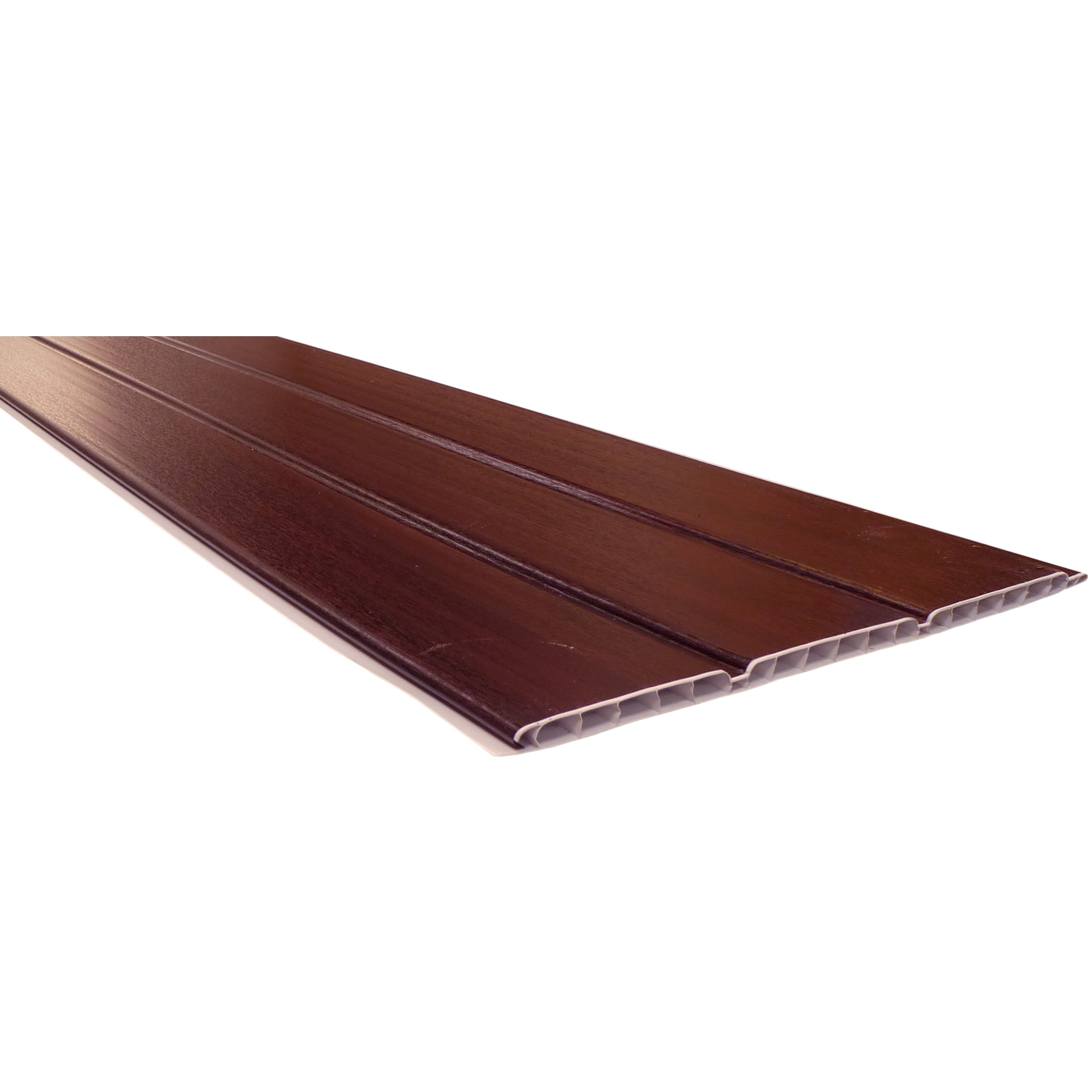 Freefoam 10mm Hollow Soffit Board - Woodgrain Rosewood, 300mm, 5 metre
