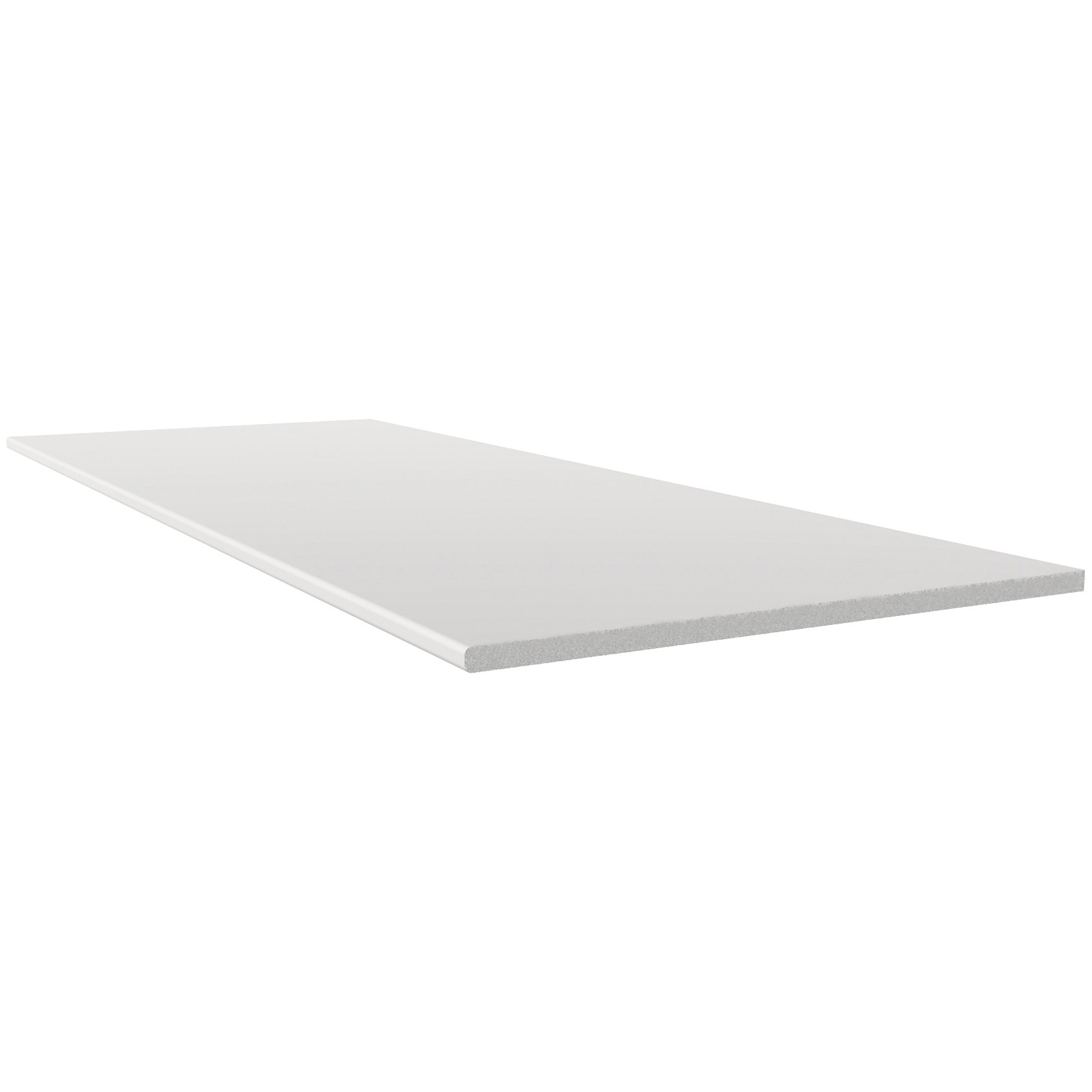 Freefoam 10mm Solid Soffit Board - White, 605mm, 5 metre
