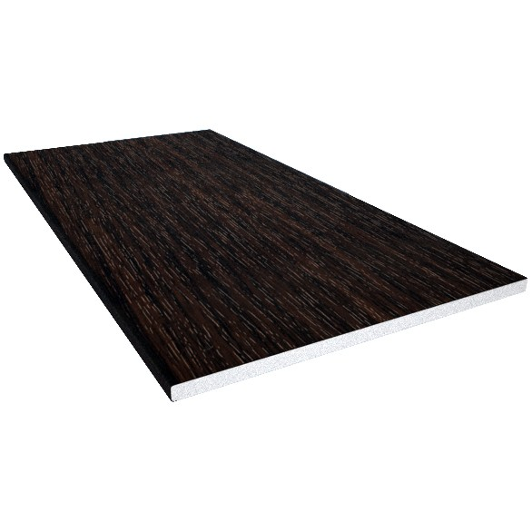 Freefoam 10mm Solid Soffit Board - Woodgrain Black Ash, 225mm, 5 metre