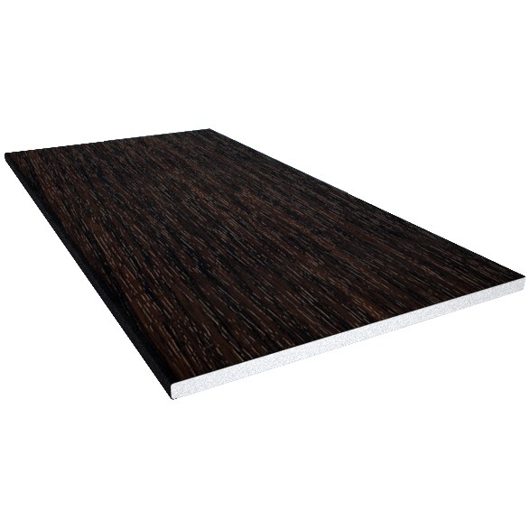Freefoam 10mm Solid Soffit Board - Woodgrain Black Ash, 300mm, 5 metre