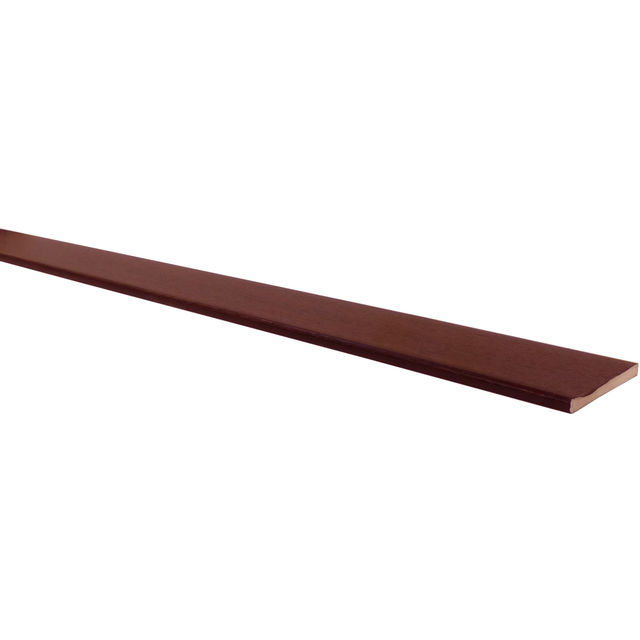 Freefoam 10mm Solid Soffit Board - Woodgrain Rosewood, 250mm, 5 metre