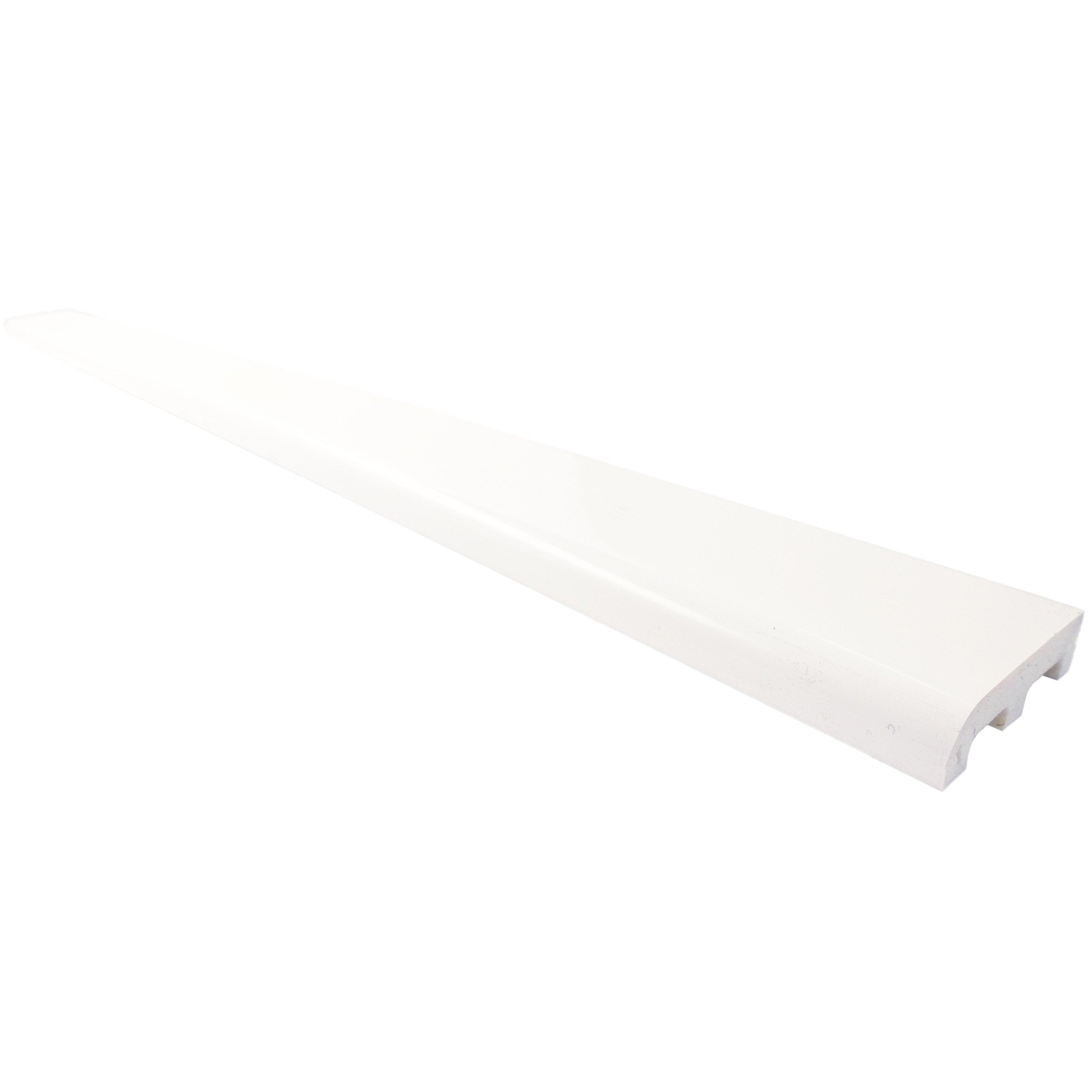 Freefoam 12mm Plastic Architrave - White, 45mm, 2.5 metre