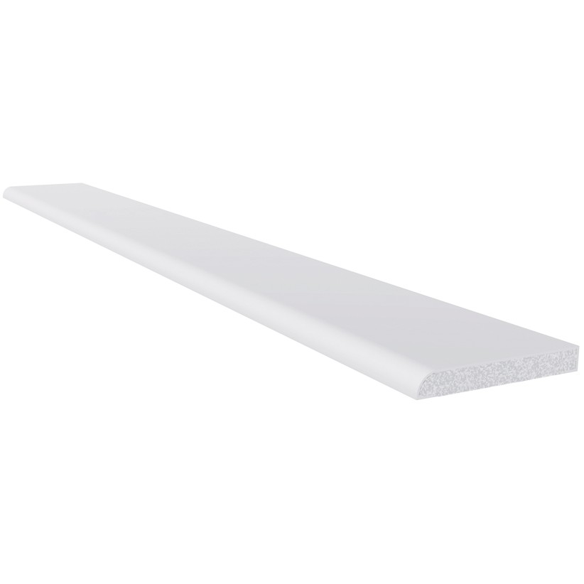 Freefoam 6mm Plastic Architrave (1.25 metre x 4) - White, 40mm