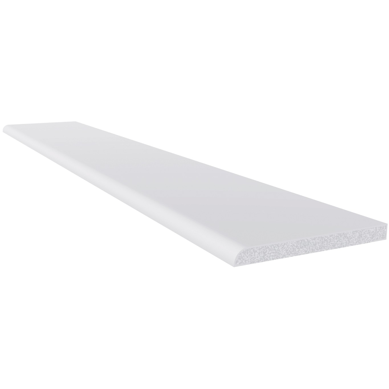 Freefoam 6mm Plastic Architrave - White, 60mm, 2.5 metre