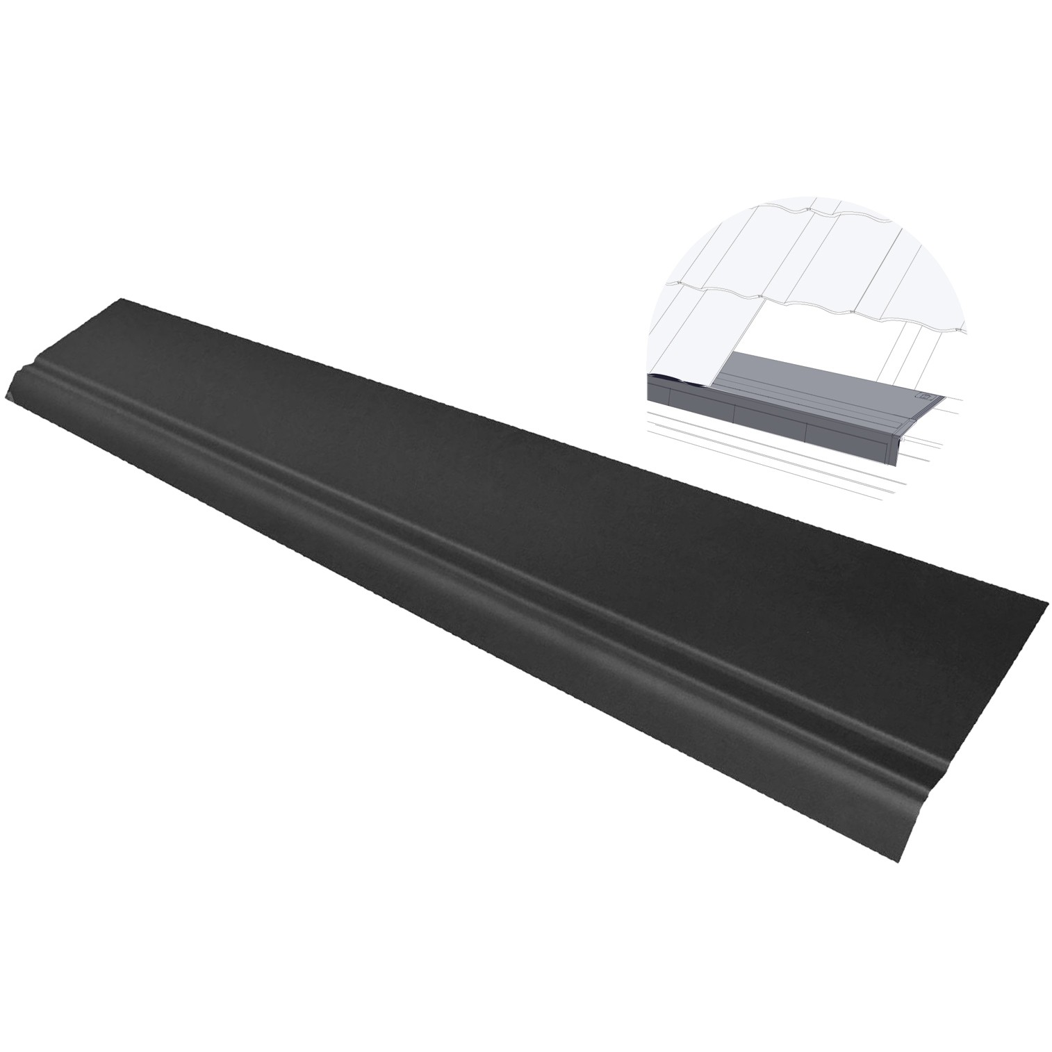 Freefoam Eaves Protector Support Tray - Black, 1.5 metre