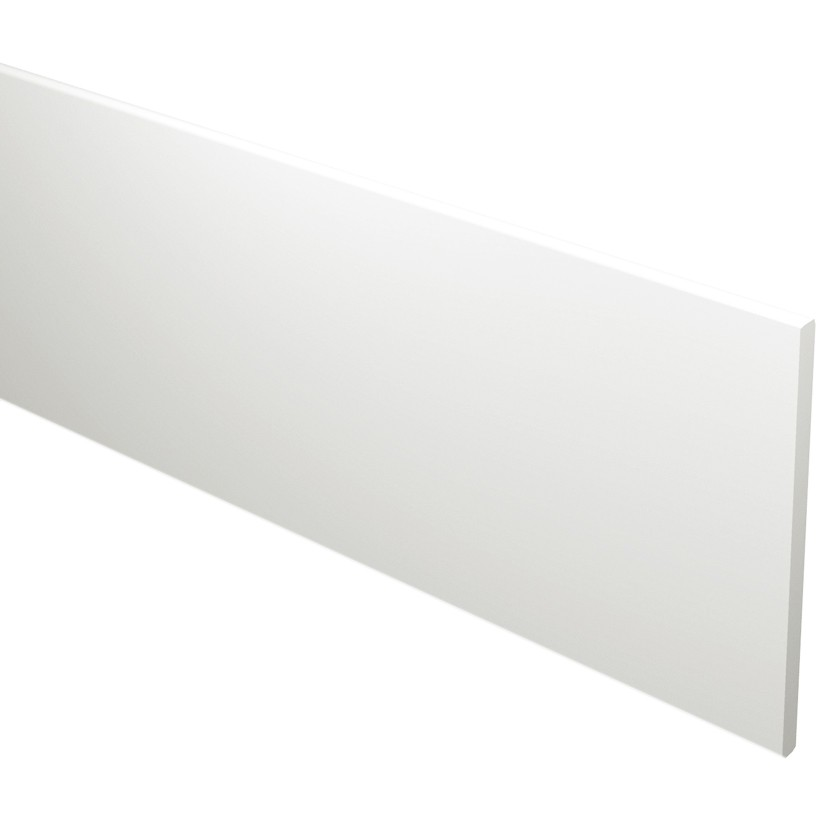 Freefoam Flat 16mm Fascia Board - White, 100mm, 5 metre
