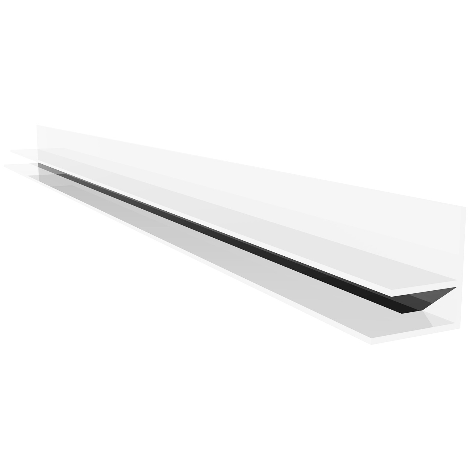 Freefoam Hollow Soffit F Wall Trim - White, 5 metre