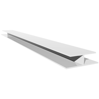 Freefoam Hollow Soffit H Joining Trim - White, 5 metre