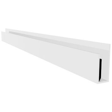 Freefoam Hollow Soffit J Starter Trim - White, 5 metre