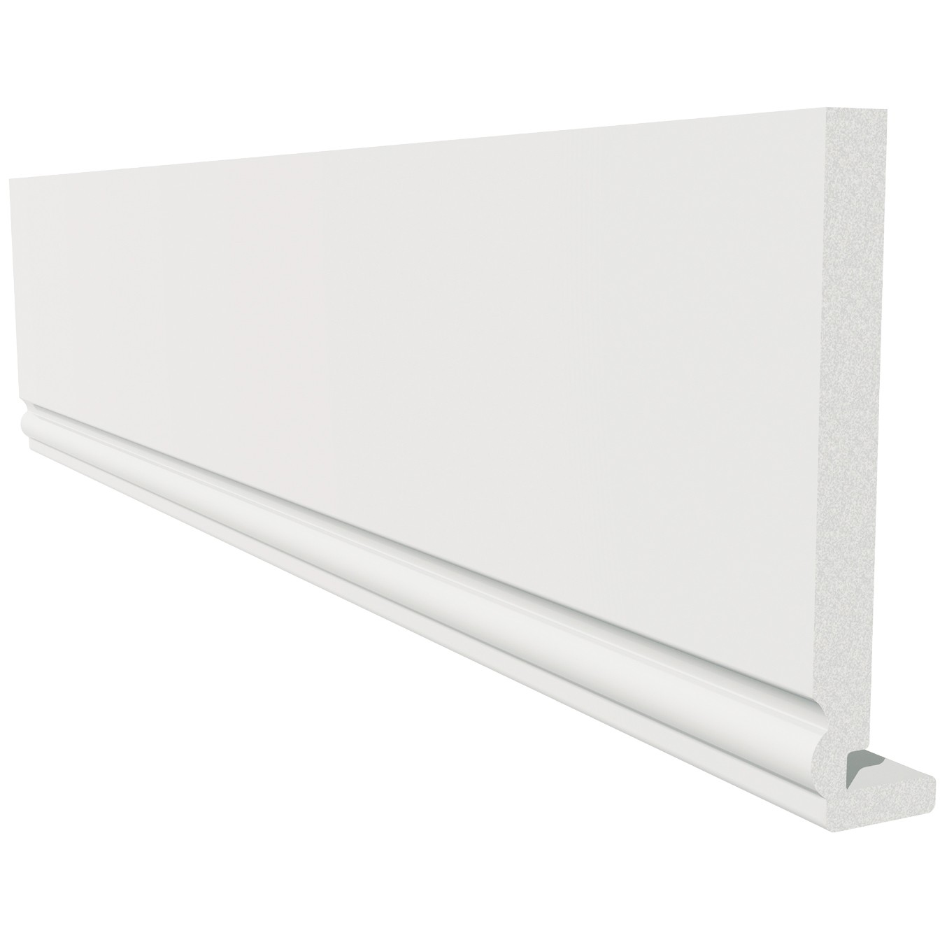 Freefoam Magnum Ogee 18mm Fascia Board - White, 405mm, 5 metre