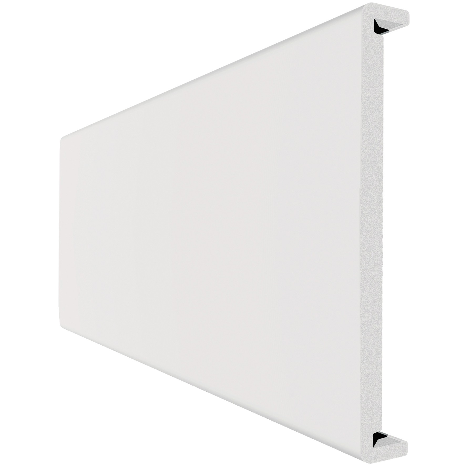 Freefoam Magnum Square Leg 18mm Double Sided Fascia Board - White, 410mm, 2.5 metre