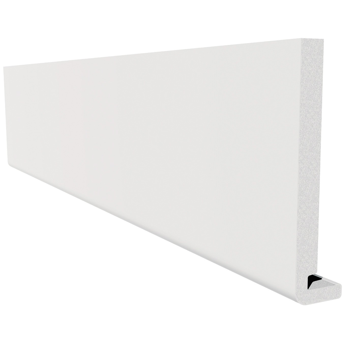 Freefoam Magnum Square Leg 18mm Fascia Board - White, 150mm, 2.5 metre