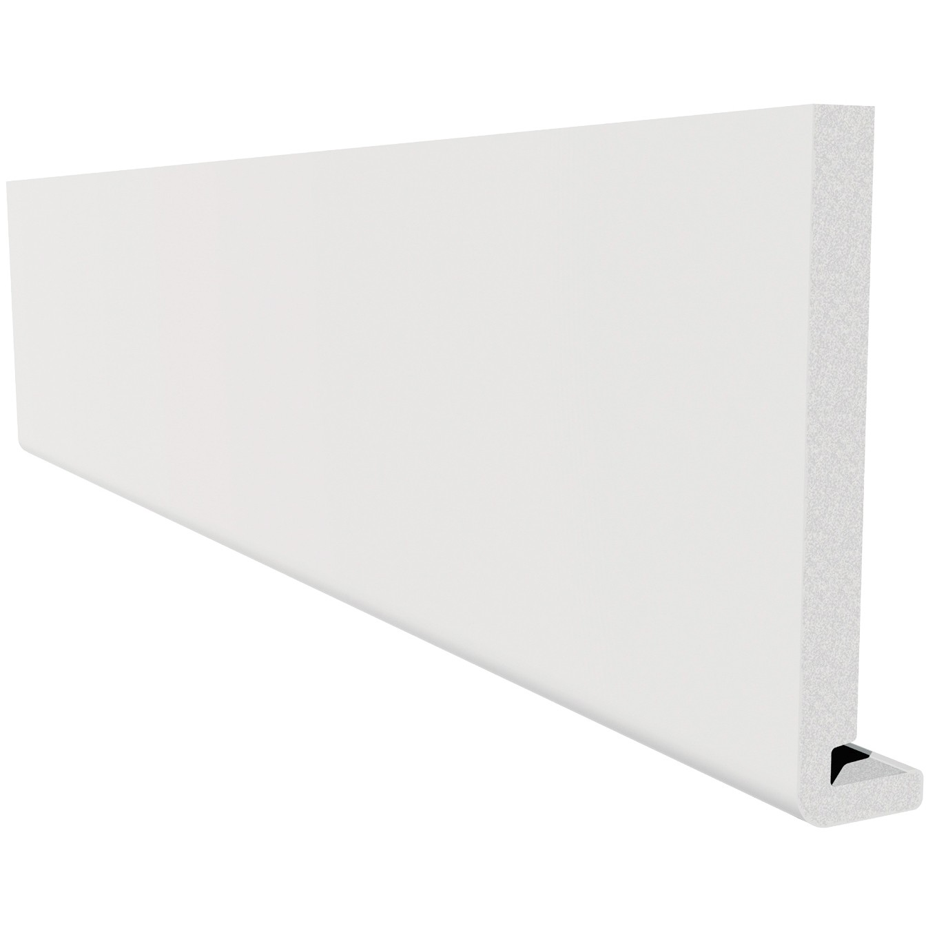 Freefoam Magnum Square Leg 18mm Fascia Board - White, 250mm, 2.5 metre
