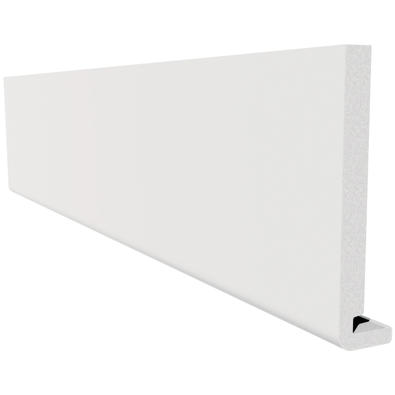 Freefoam Magnum Square Leg 18mm Fascia Board - White, 300mm, 5 metre