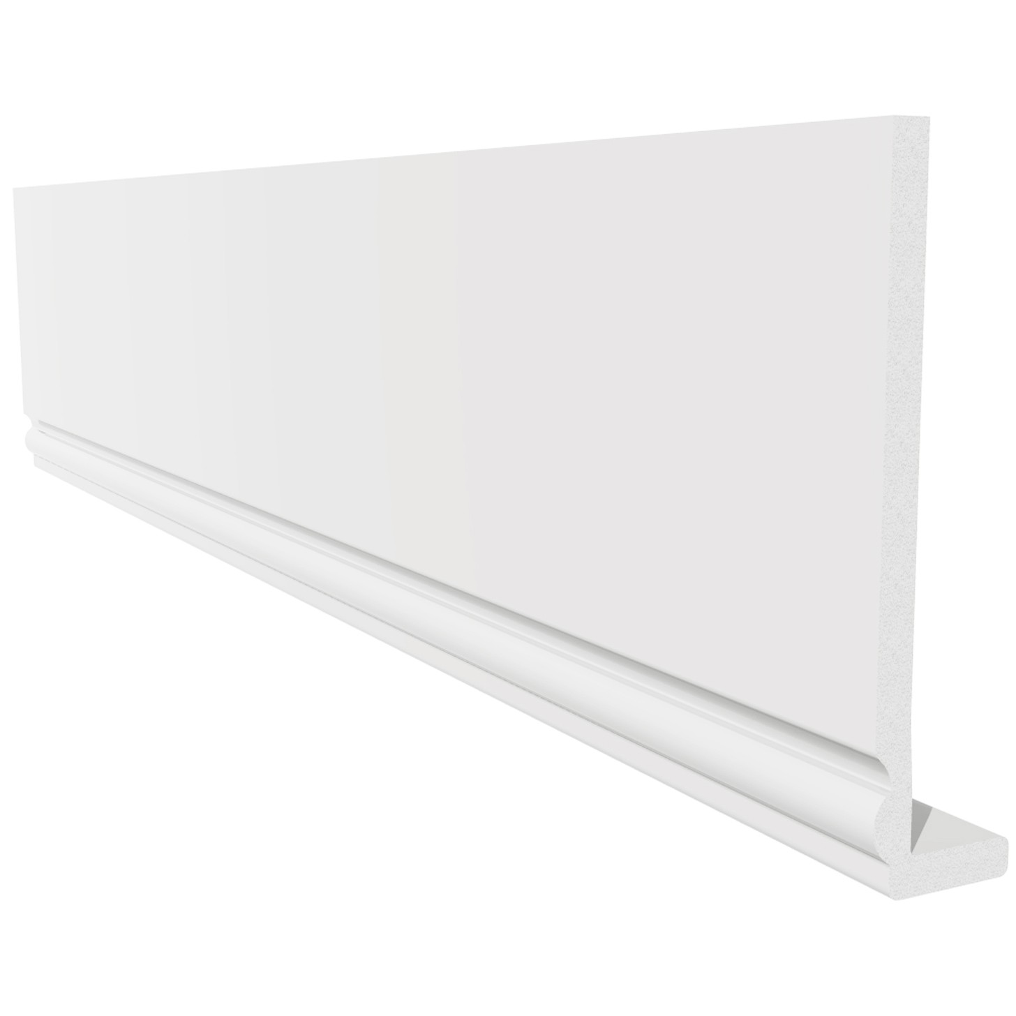 Freefoam Ogee 10mm Capping Fascia Board - White, 200mm, 5 Metre