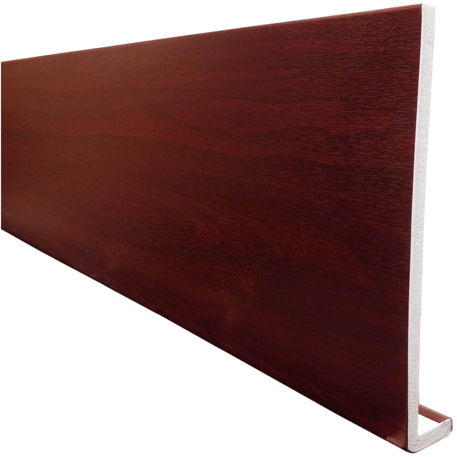 Freefoam Plain 10mm Fascia Board - Woodgrain Rosewood, 300mm, 5 metre