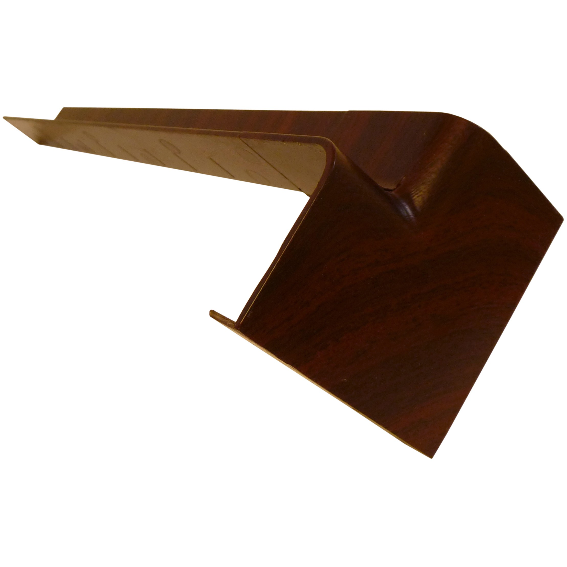 Freefoam Plain Fascia Board Internal Corner (Single) - Woodgrain Mahogany