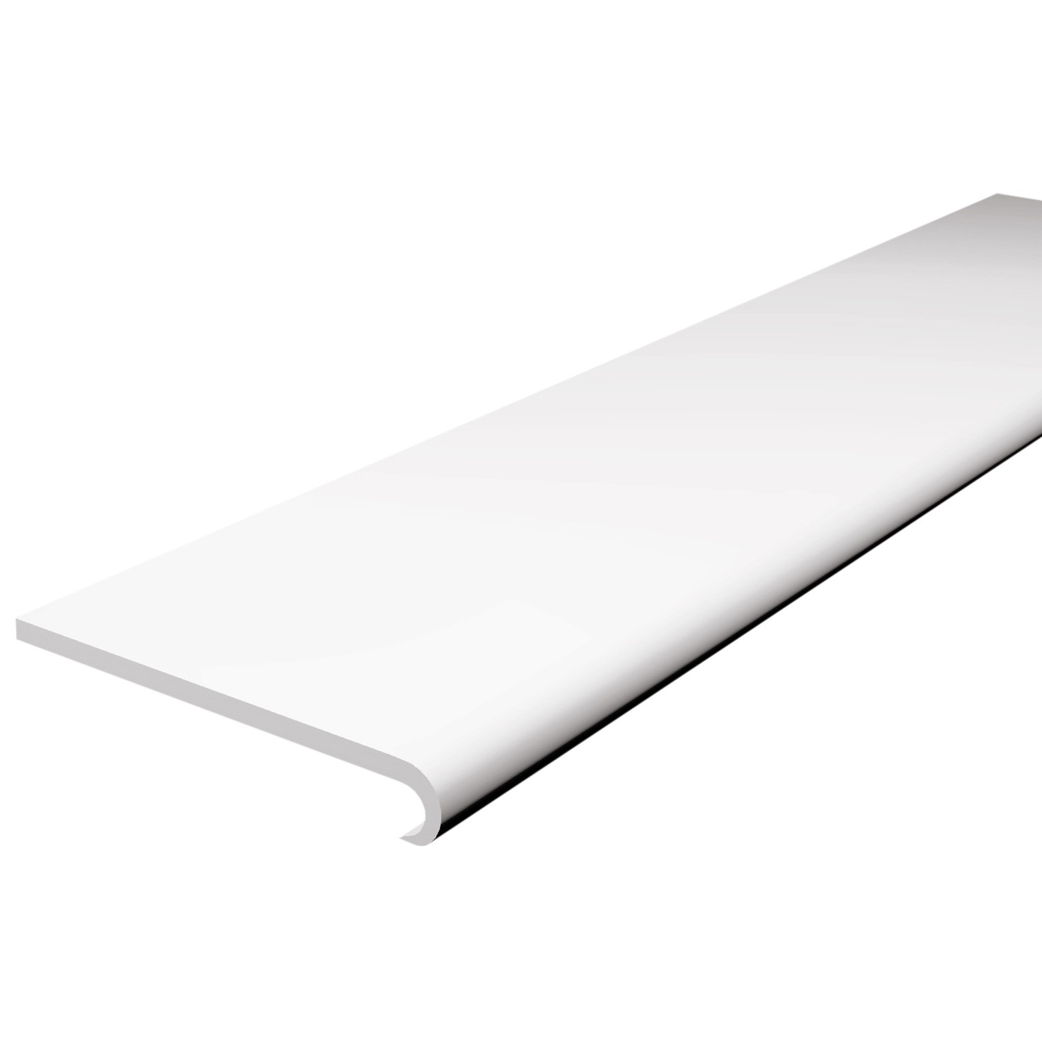 Freefoam Plastic Bullnose Window Board (1.25 metre x 4) - White, 250mm
